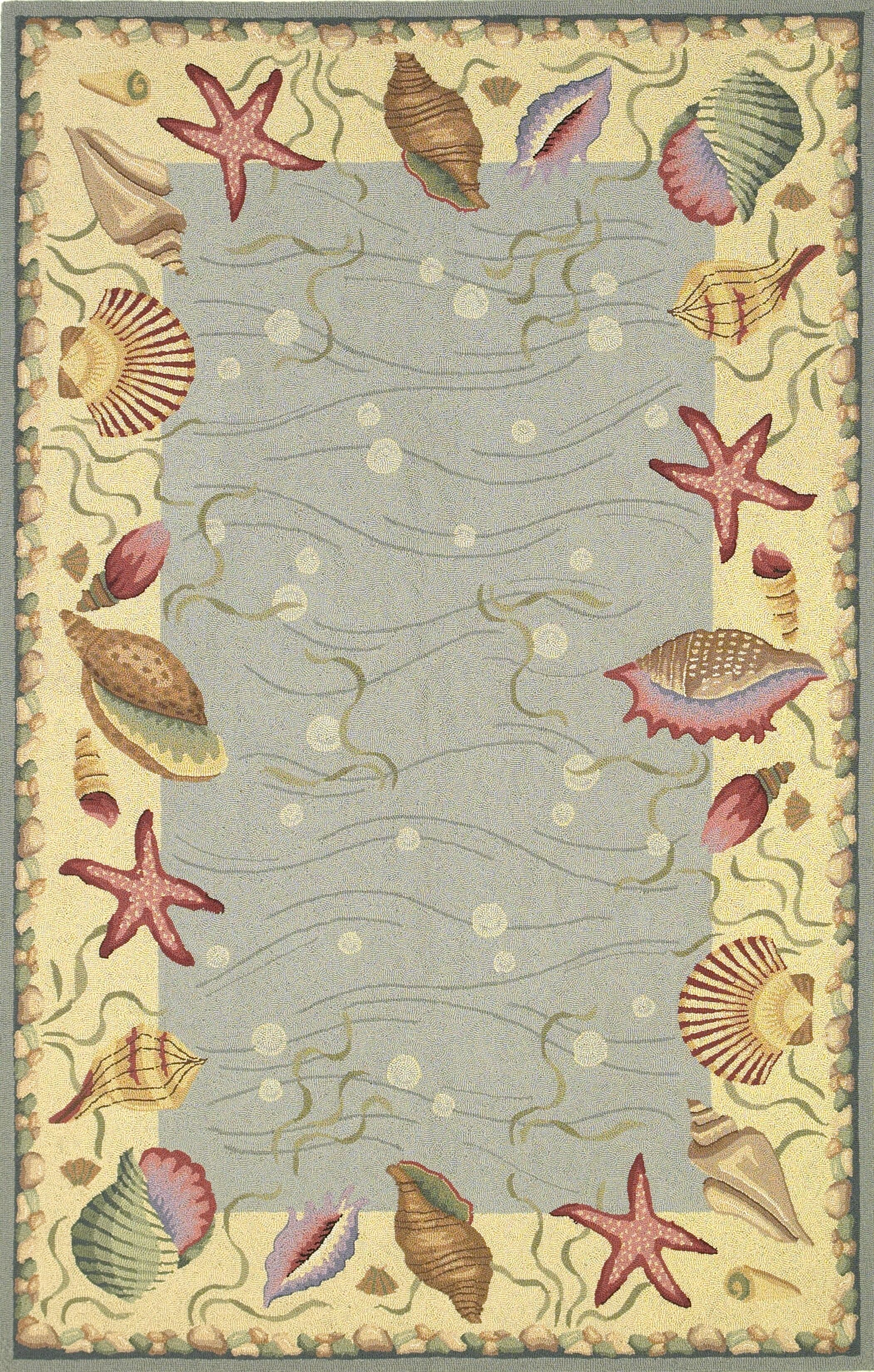 Livia Ocean Surprise Novelty Rug Rug Size: Runner 2' x 8'