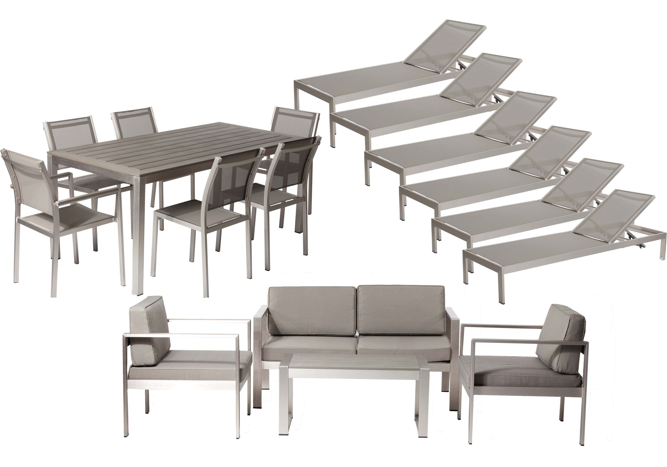 Hillwood 17 Piece Conversation Set with Cushions Color: Gray