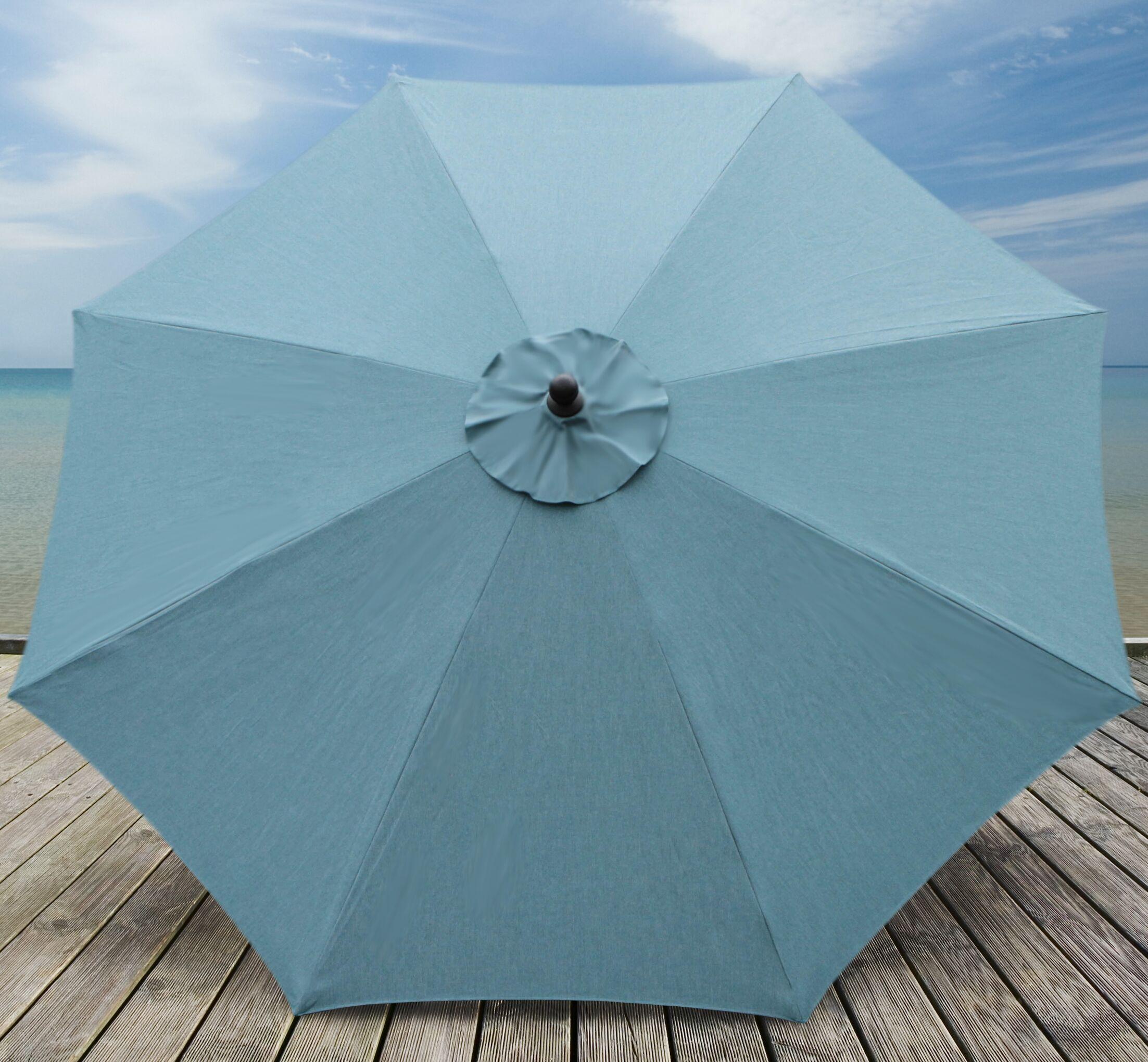 Mucci Madilyn 10' Market Umbrella Fabric Color: Cast Lagoon