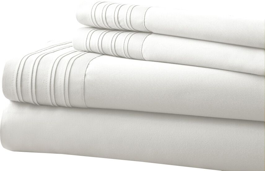 Holmes 1000 Thread Count Sheet Set Size: King, Color: White