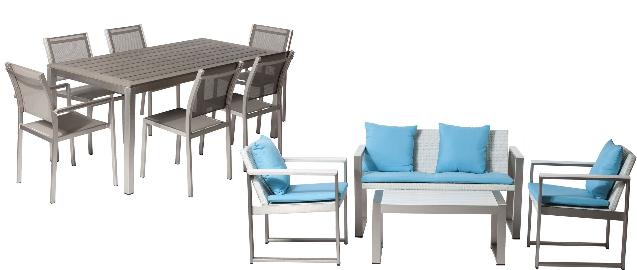 Hampshire 11 Piece Conversation Set with Cushions Frame Color: Gray/White