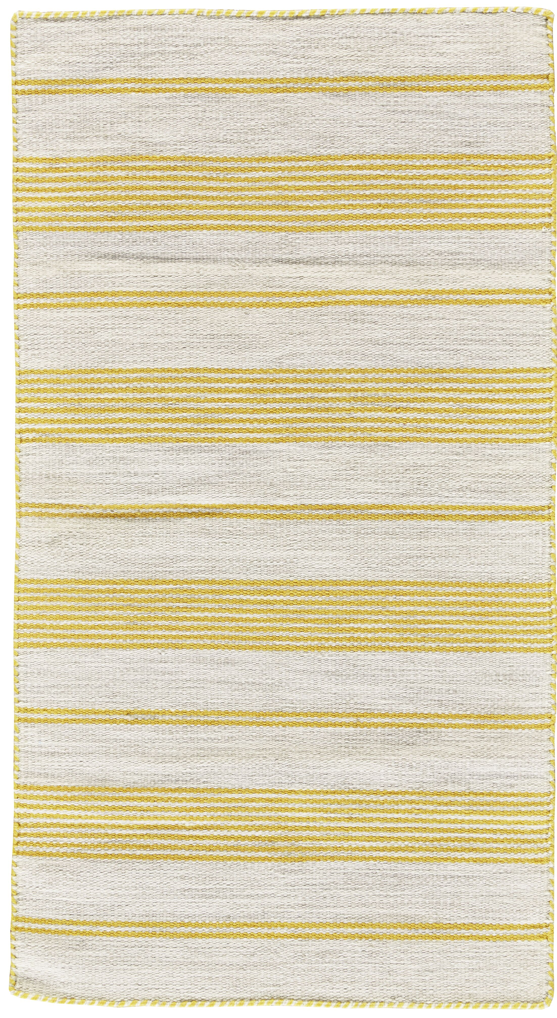 Alicea Hand-Woven Gold Area Rug Rug Size: Rectangle 8' x 11'