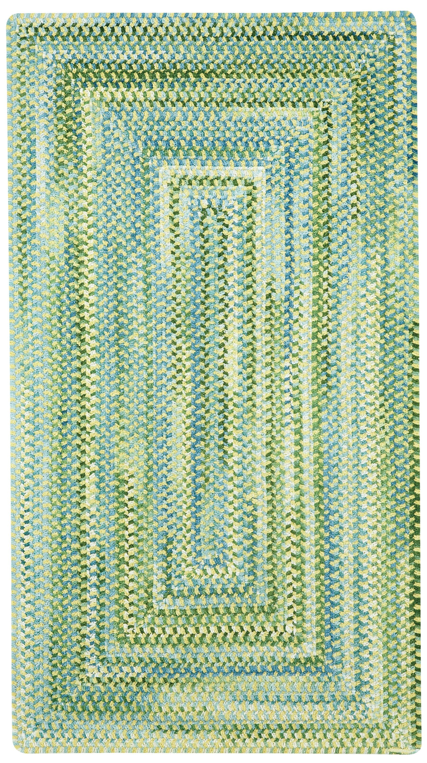 Celise Green/White Area Rug Rug Size: Concentric 2' x 3'