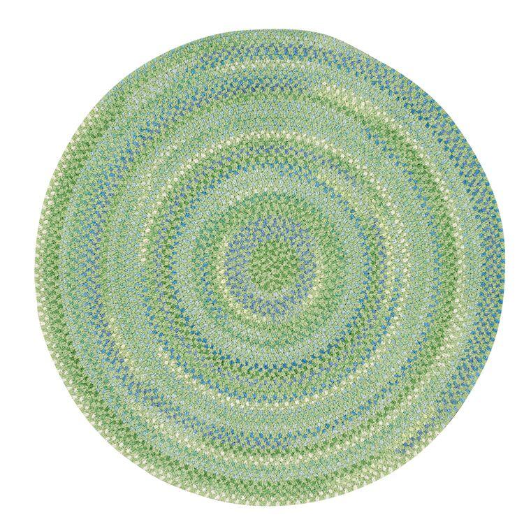 Celise Sea Monster Green Area Rug Rug Size: Round 3'