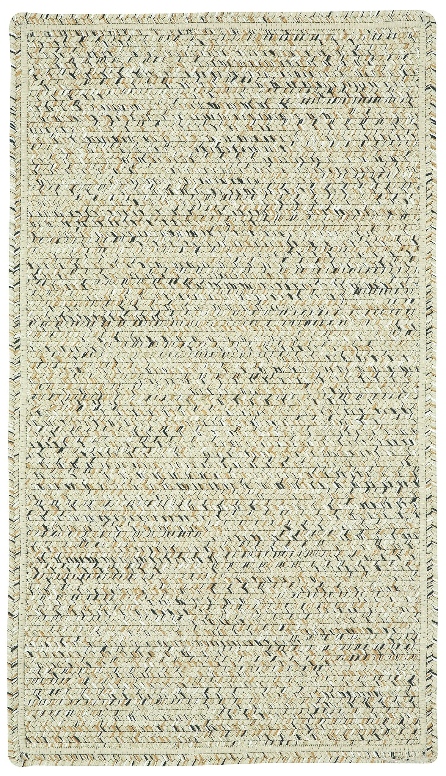 Isaiah Sandy Beach Variegated Outdoor Area Rug Rug Size: Concentric Square 7'6