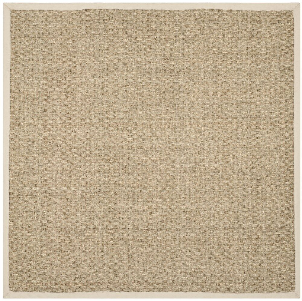Catherine Natural/Ivory Area Rug Rug Size: Square 7'