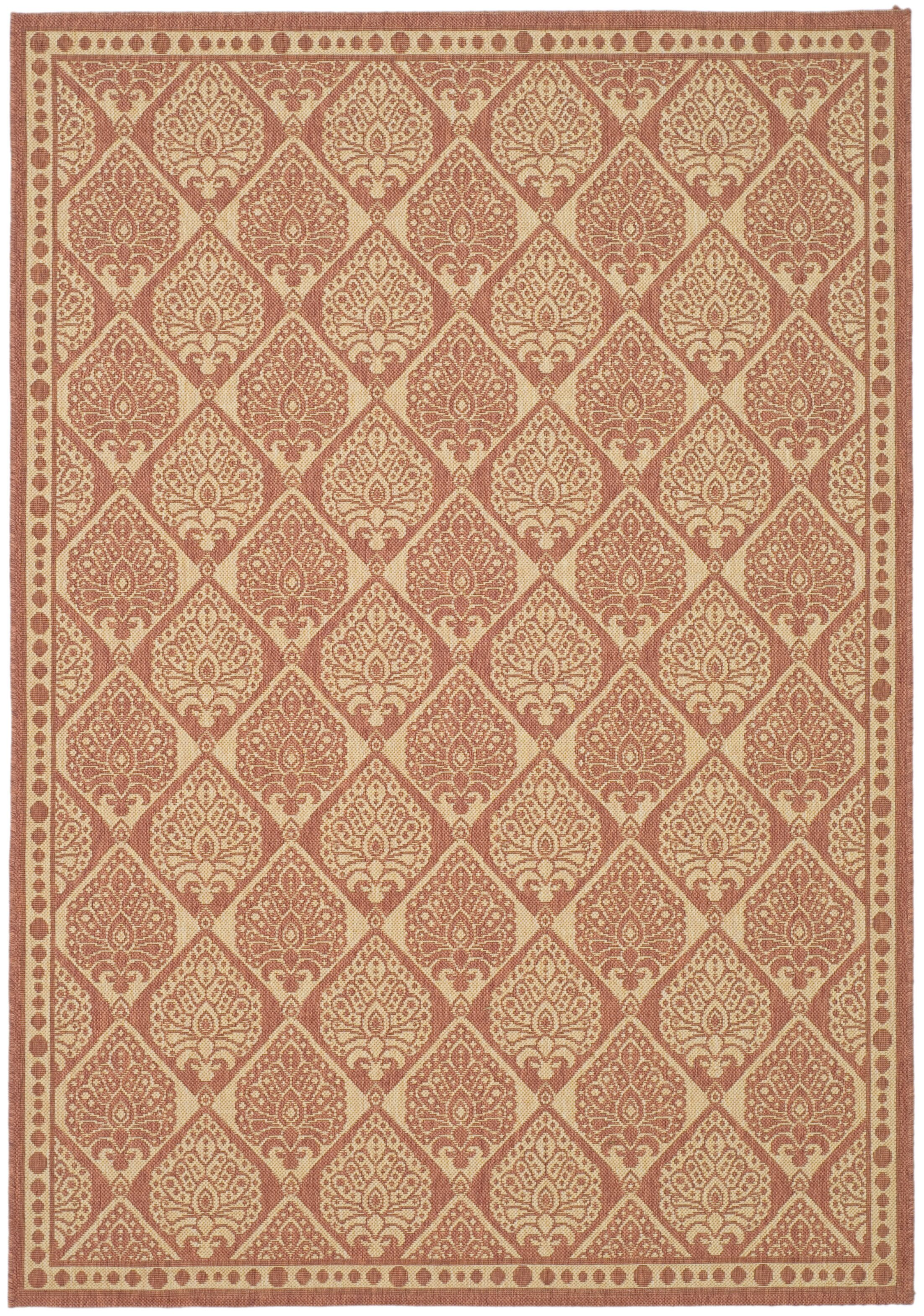 Romola Rust/Sand Outdoor Rug Rug Size: Rectangle 7'10