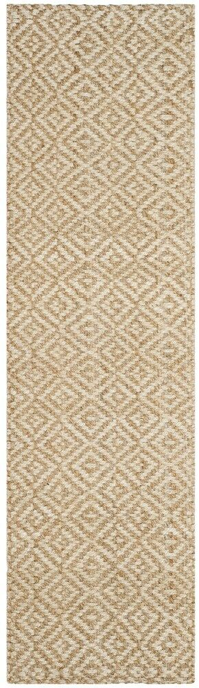 Miliou Hand-Woven Ivory/Natural Area Rug Rug Size: Runner 2'3