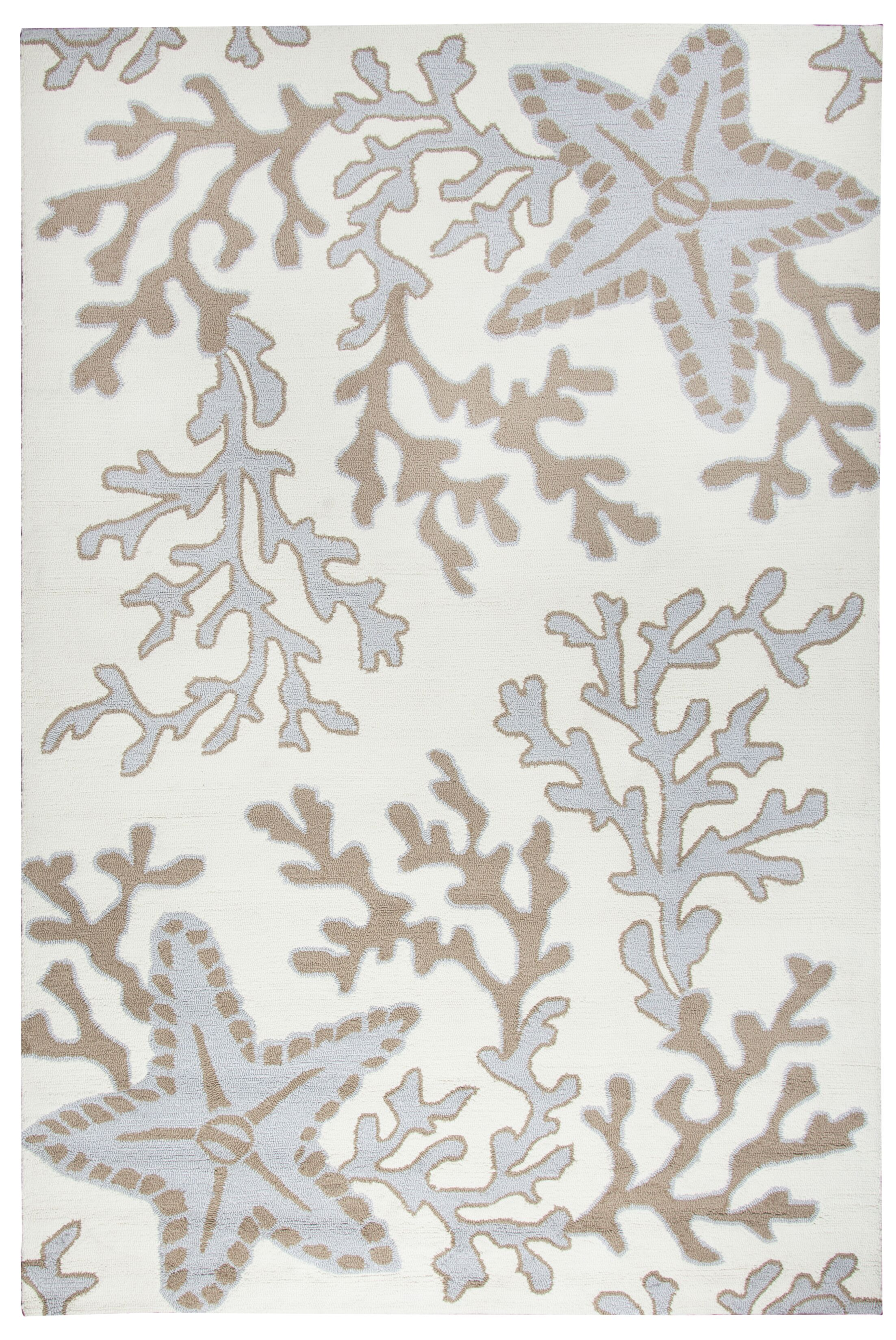 Maryland Hand-Tufted Off White/Tan Indoor/Outdoor Area Rug Size: Rectangle 9' x 12'