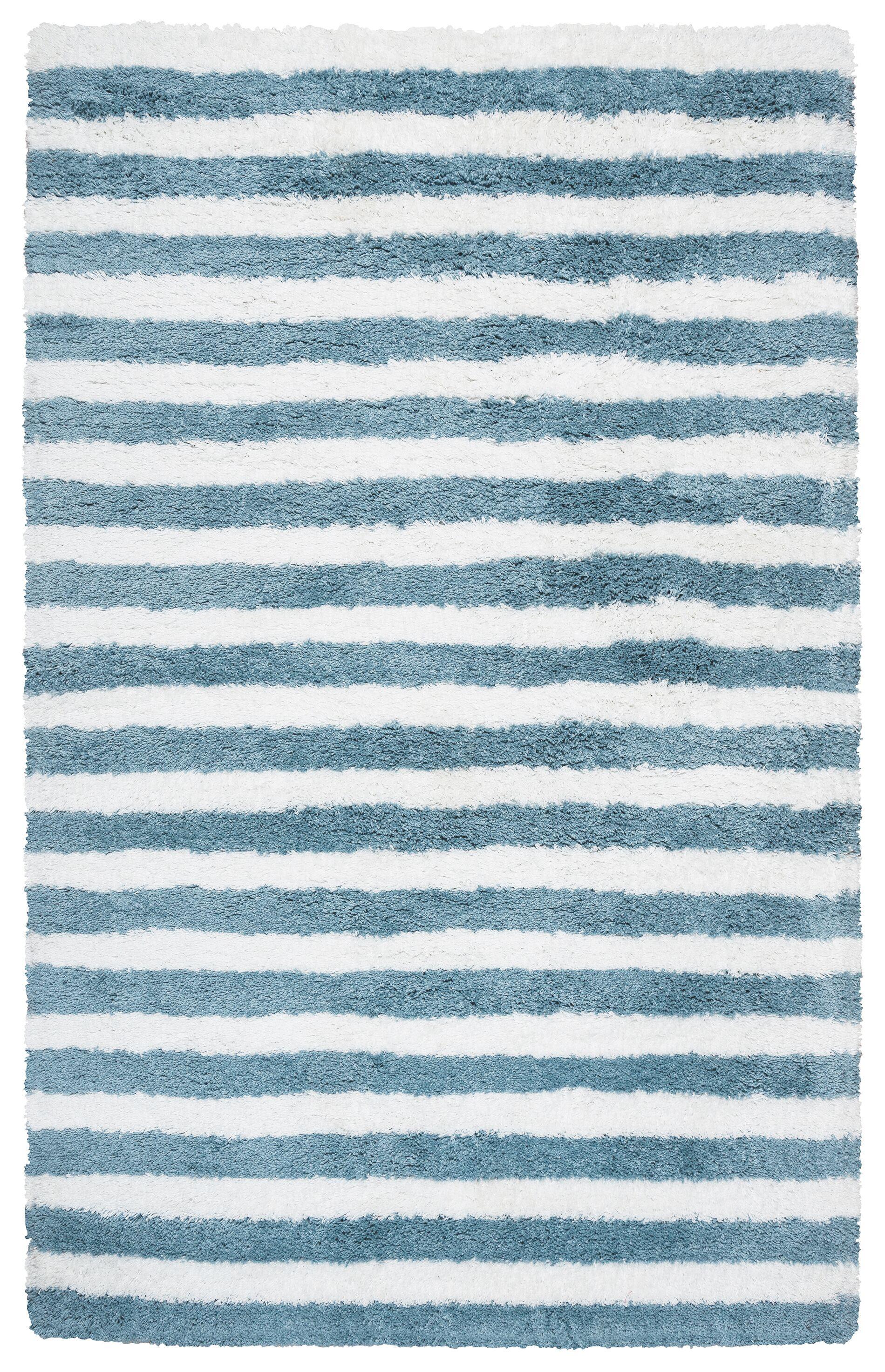 Laoise Hand-Tufted Aqua Area Rug Size: Rectangle 3'6