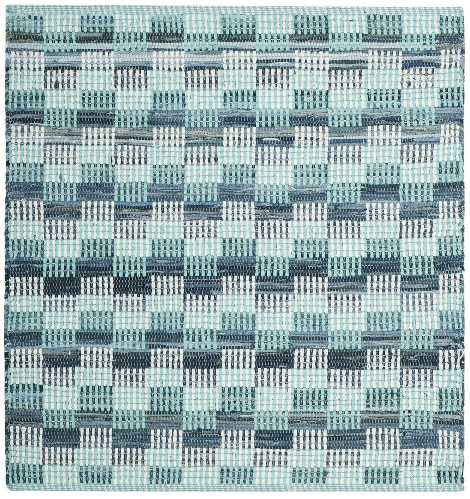 Alberta Hand-Woven Turquoise Area Rug Rug Size: Square 6'