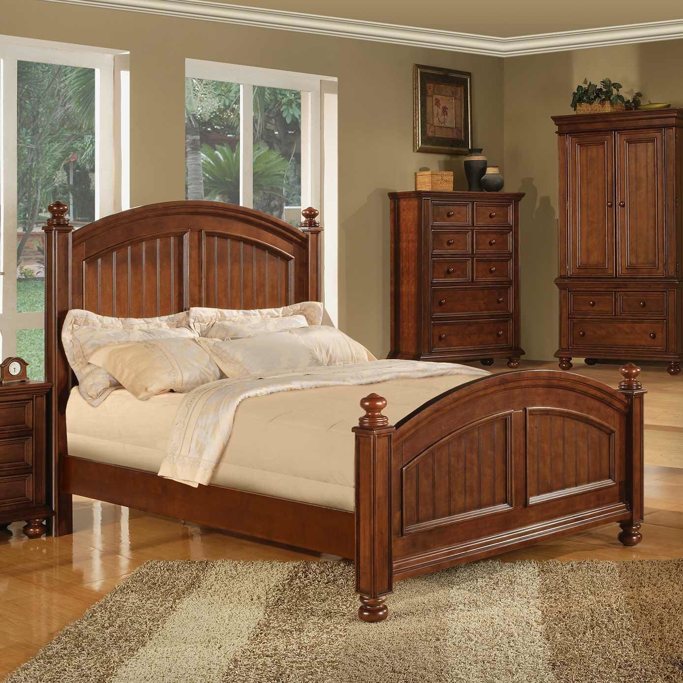Miami Springs Panel Bed Size: King, Color: White