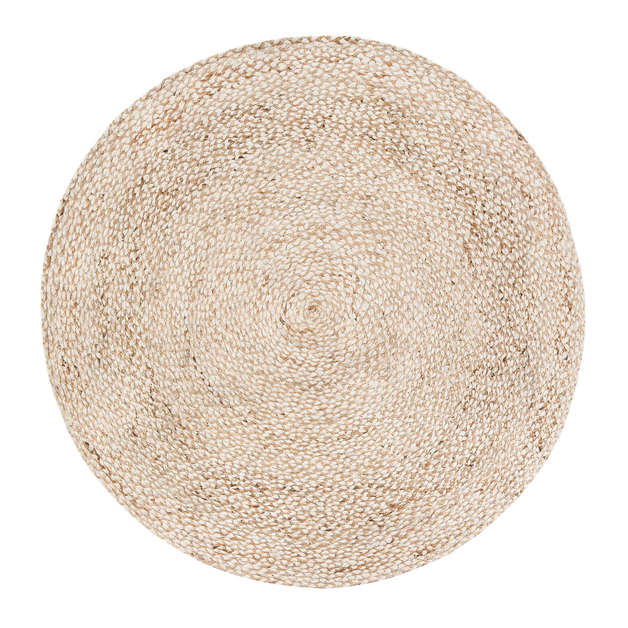 Wilhelmina Handmade Ivory/Tan Area Rug Rug Size: Round 6'