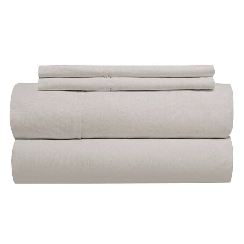 Sint 310 Thread Count Solid 100% Cotton Sheet Set Color: Beach, Size: California King