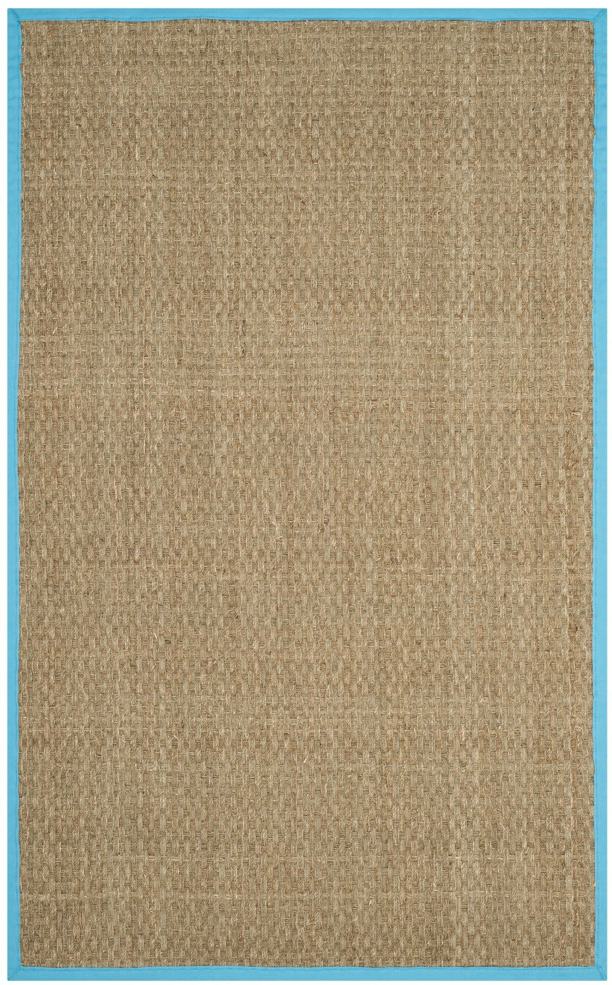 Richmond Natural/Turquoise Area Rug Rug Size: Rectangle 8' x 10'