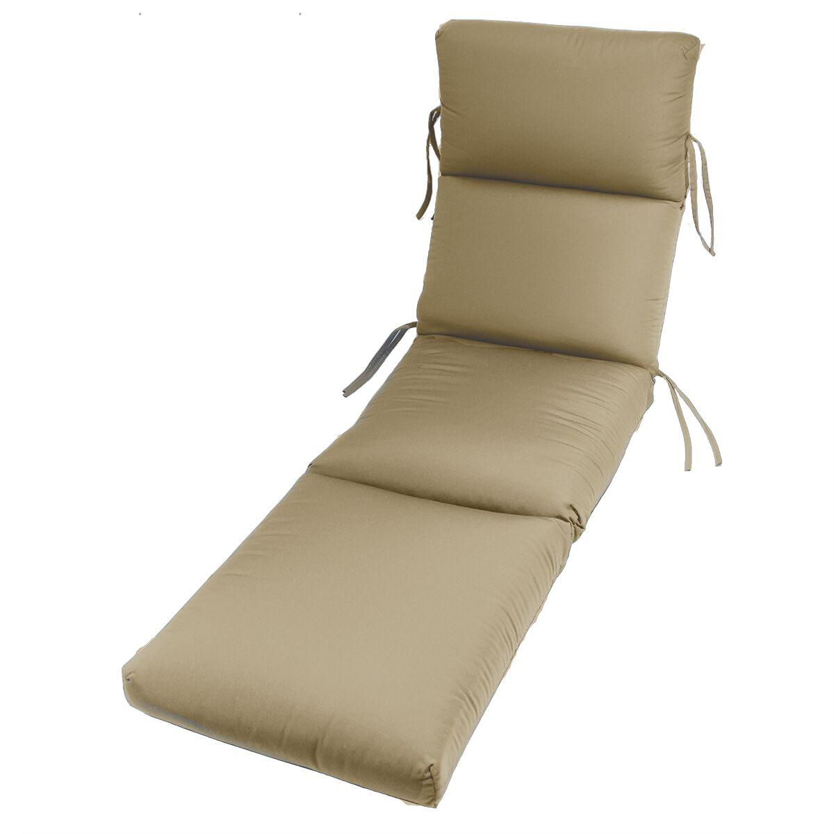 Kellner Indoor/Outdoor Sunbrella Chaise Lounge Cushion Fabric: Antique Beige