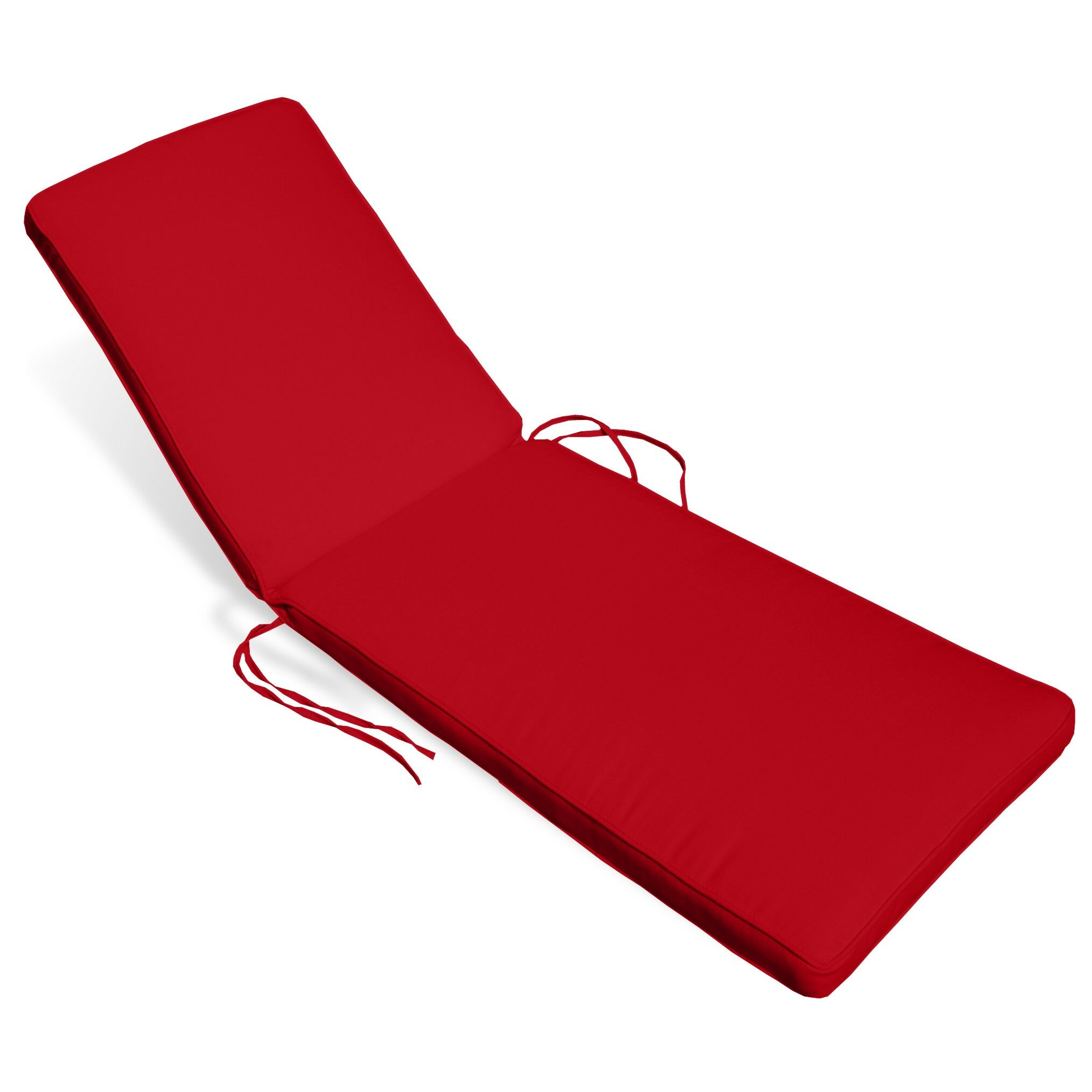 Indoor/Outdoor Sunbrella Chaise Lounge Cushion Fabric: Logo Red