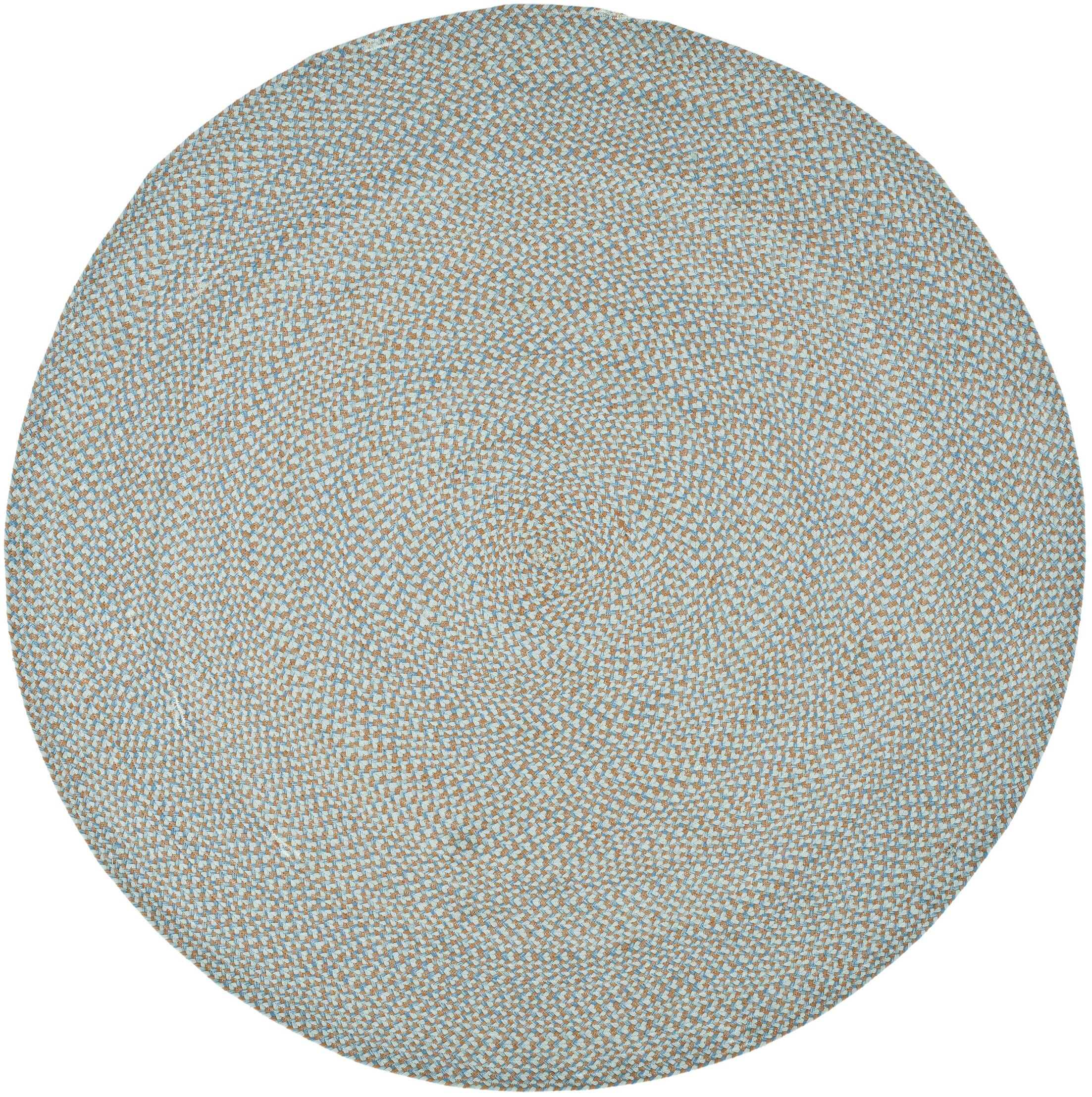 Lissie Hand-Woven Cotton Blue Area Rug Rug Size: Round 6'