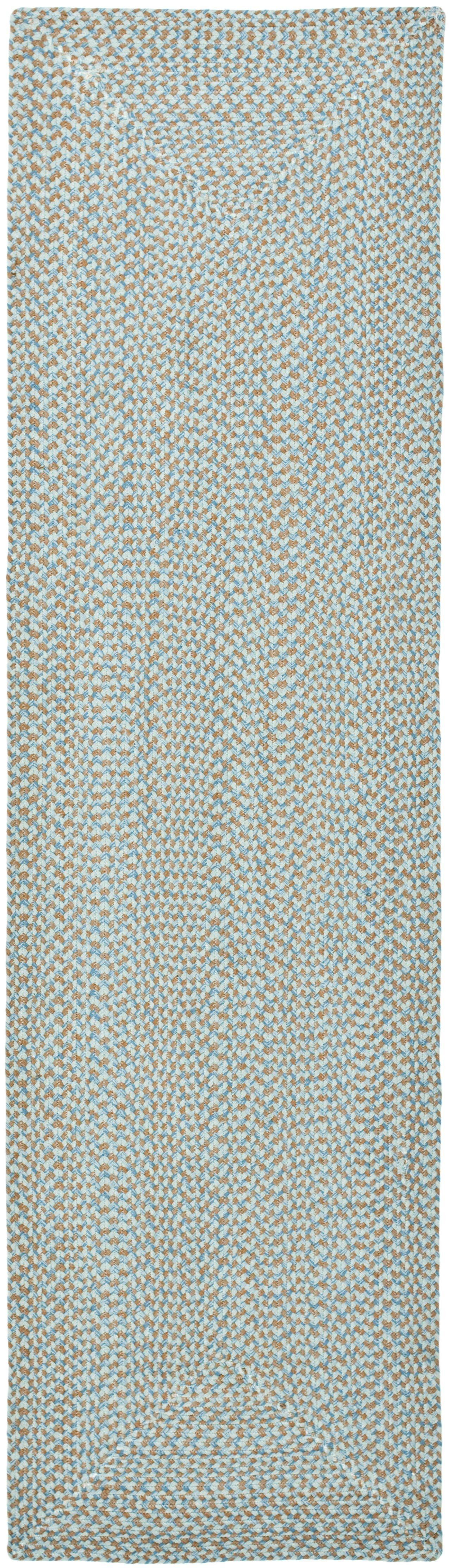 Lissie Hand-Woven Cotton Blue Area Rug Rug Size: Runner 2'3