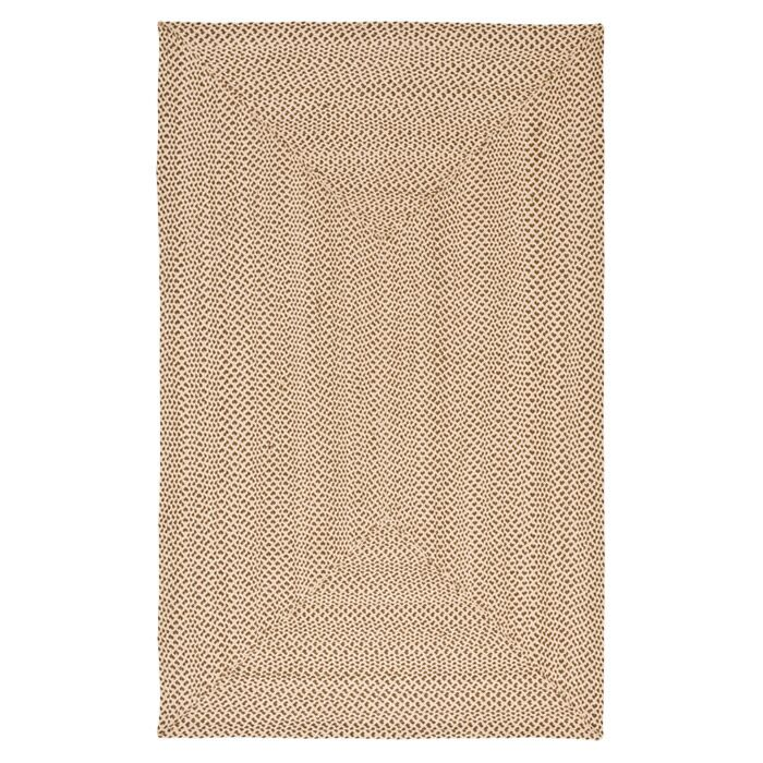 Lissie Hand-Woven Cotton Beige/Brown Area Rug Rug Size: Rectangle 8' x 10'