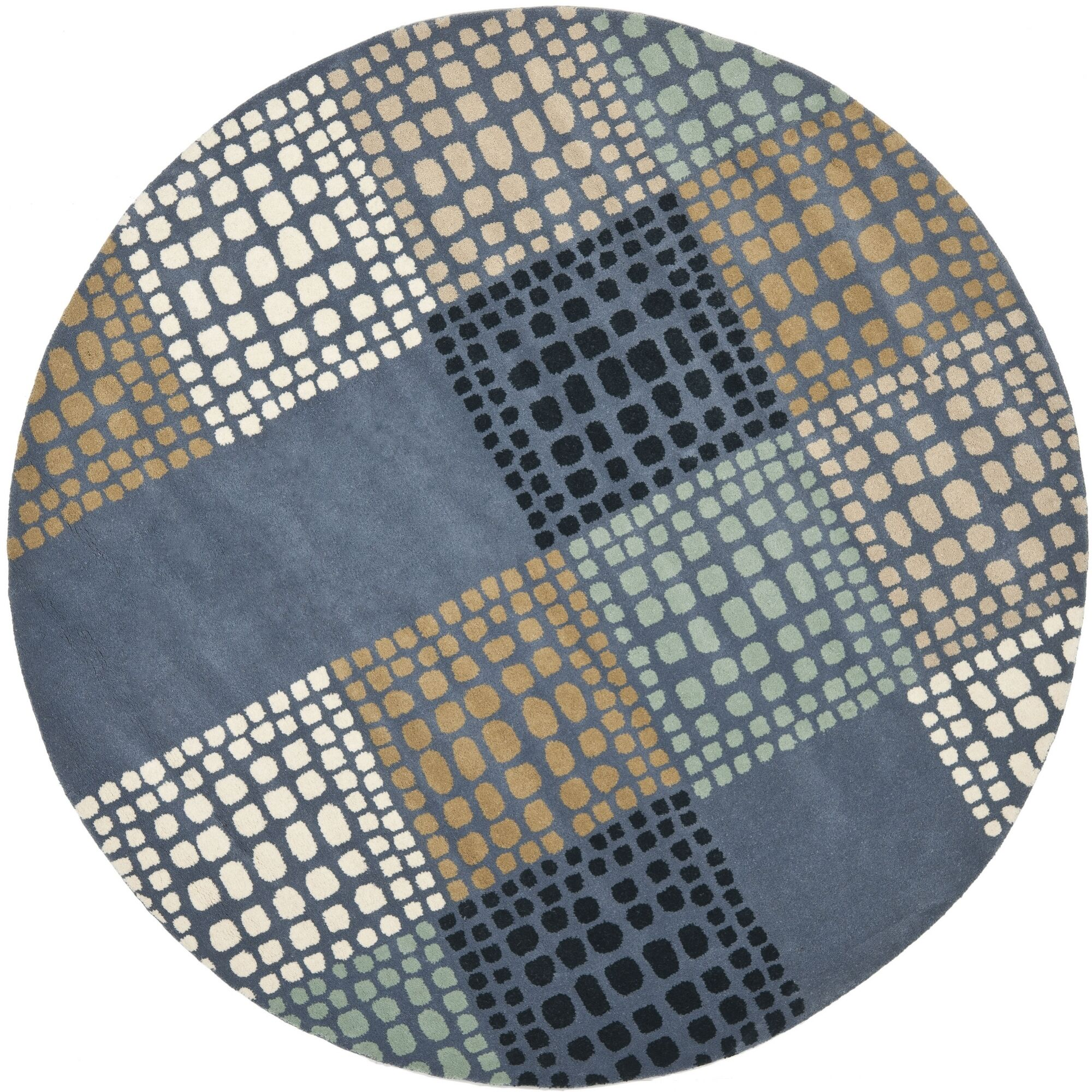 Leonia Grey/Multi Area Rug Rug Size: Round 7'