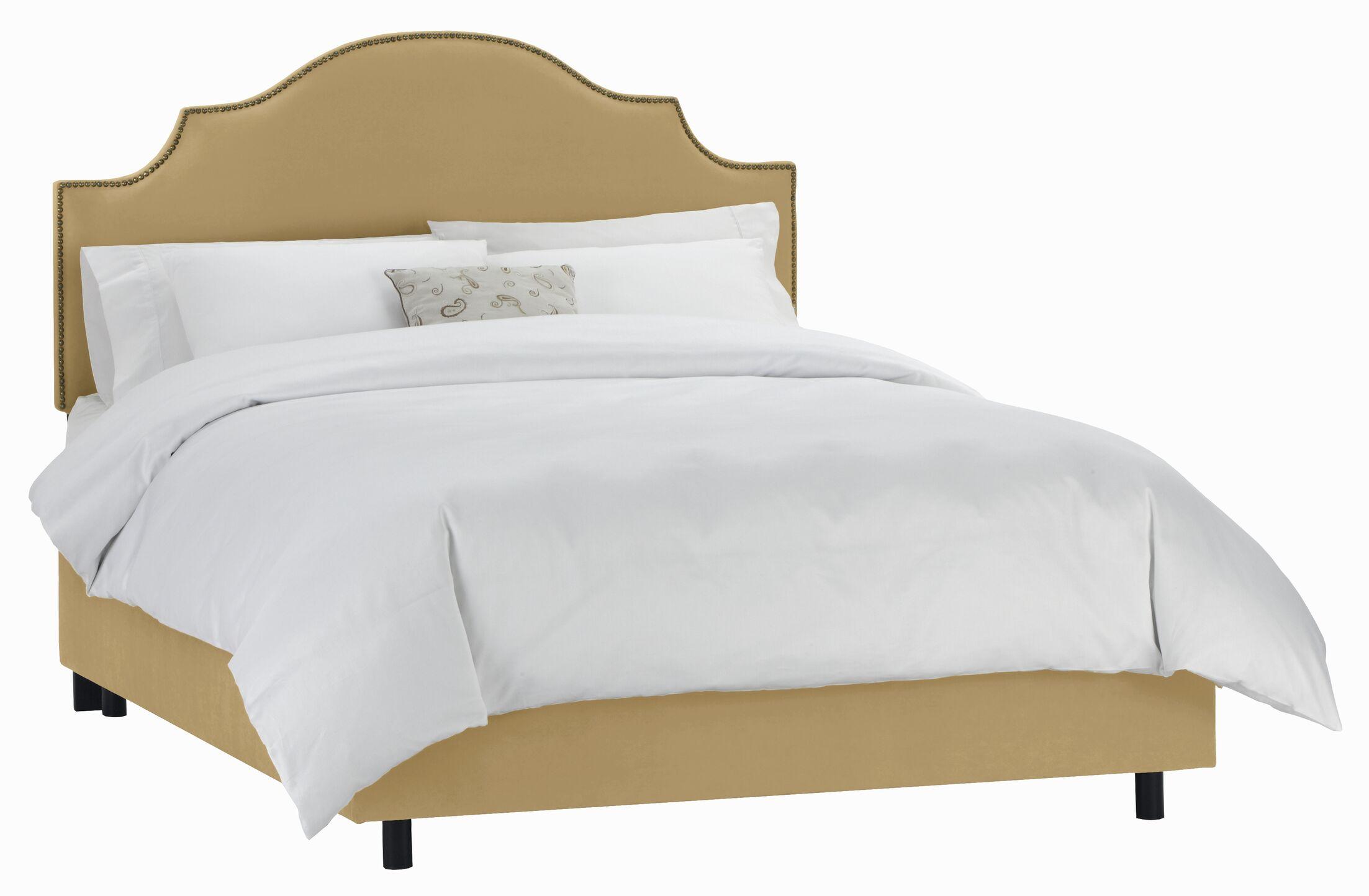 Revley Upholstered Panel Bed Size: California King, Color: Honey