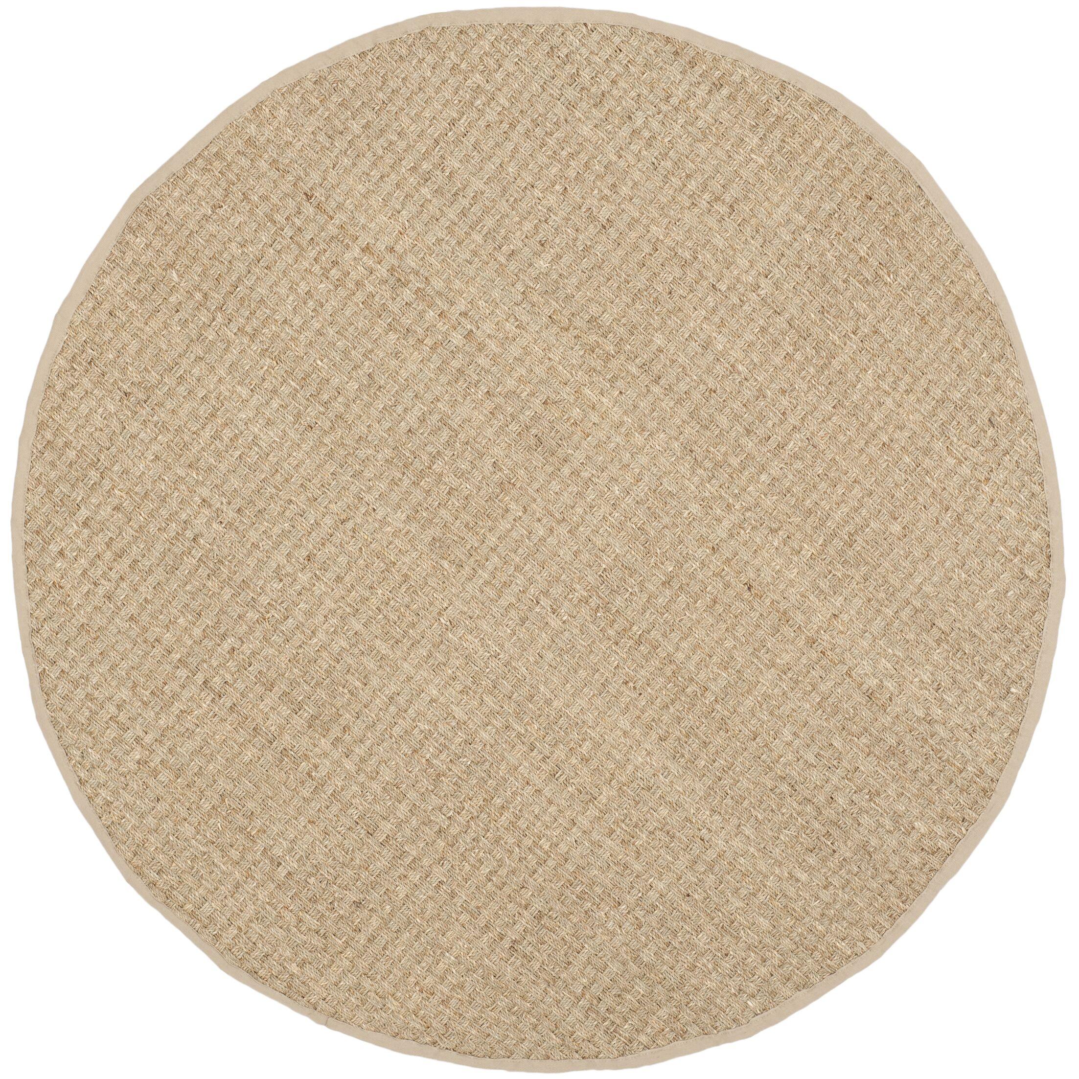 Richmond Hand-Woven Natural/Beige Area Rug Rug Size: Round 6'