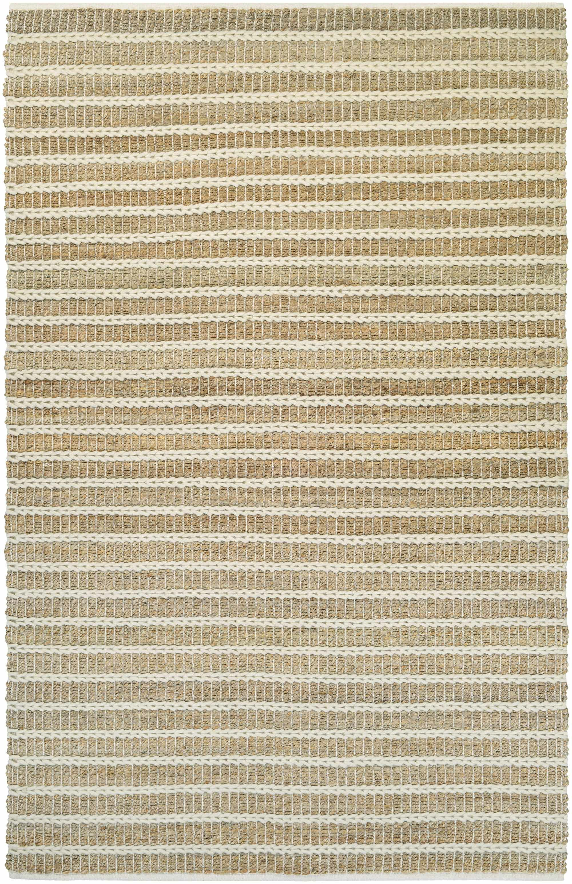 Dabria Desert Hand-Loomed Sand Dune/Ivory Area Rug Rug Size: Rectangle 7'10