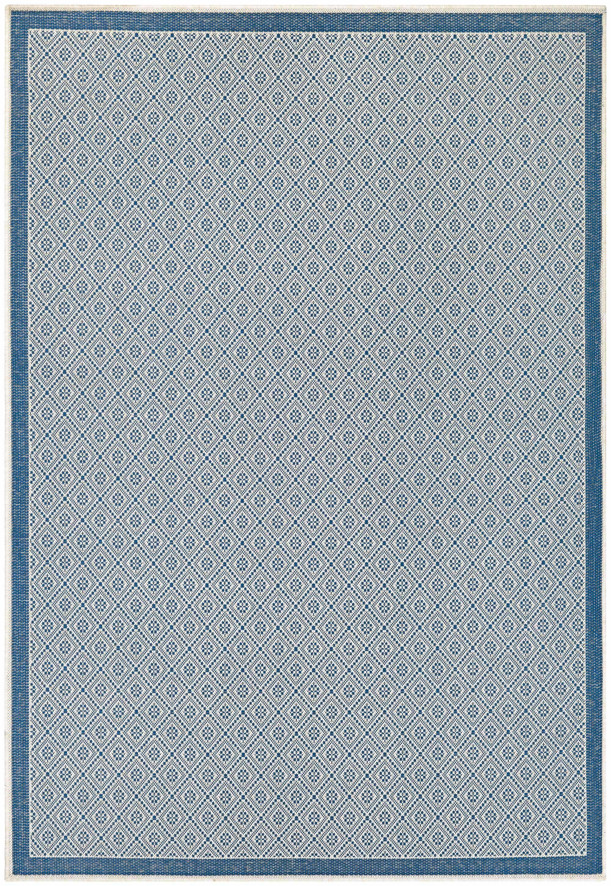 Wexford Blue Indoor/Outdoor Area Rug Rug Size: Rectangle 5'3
