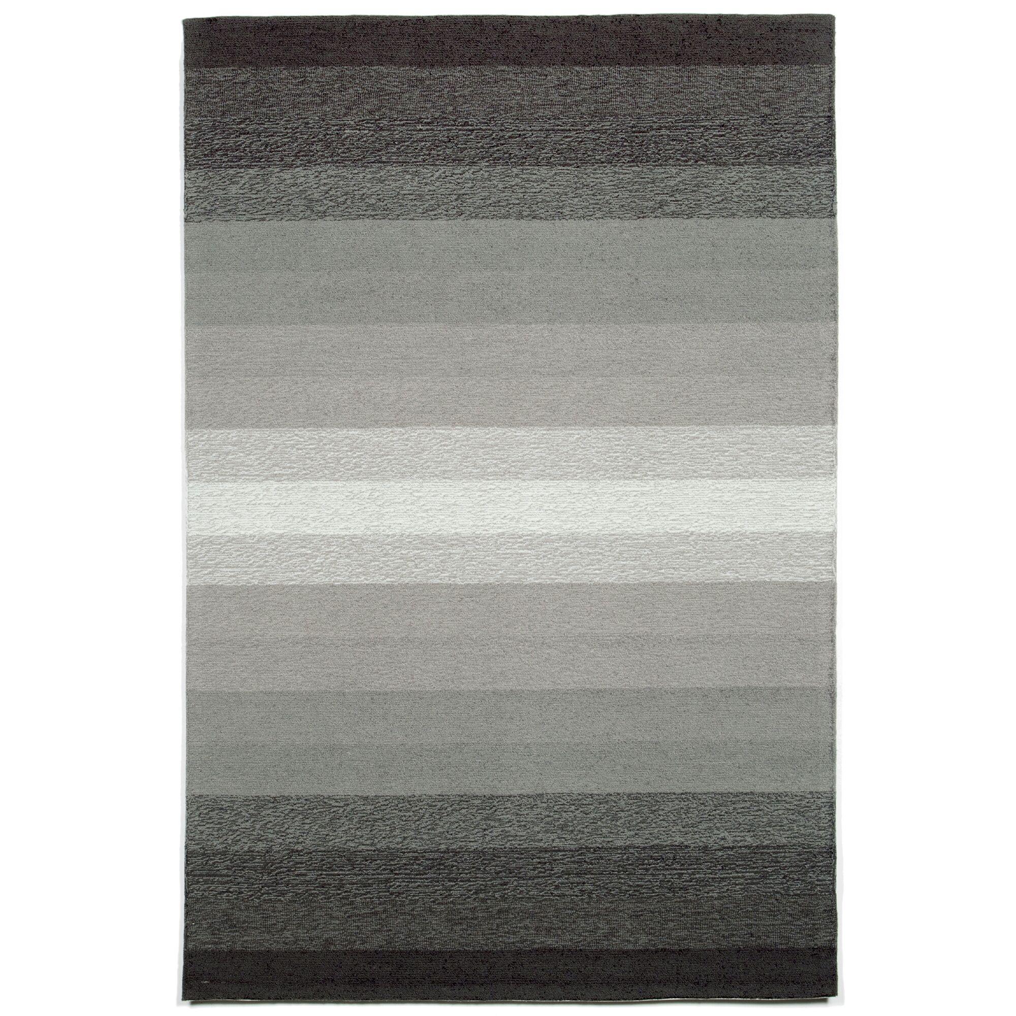 Clowers Ombre Grey Indoor/Outdoor Area Rug Rug Size: 5' x 7'6