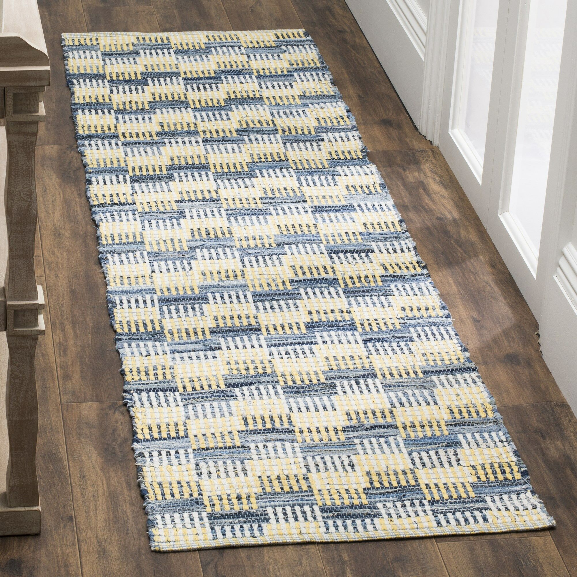 Alberta Hand-Woven Gold Area Rug Rug Size: Rectangle 4' x 6'
