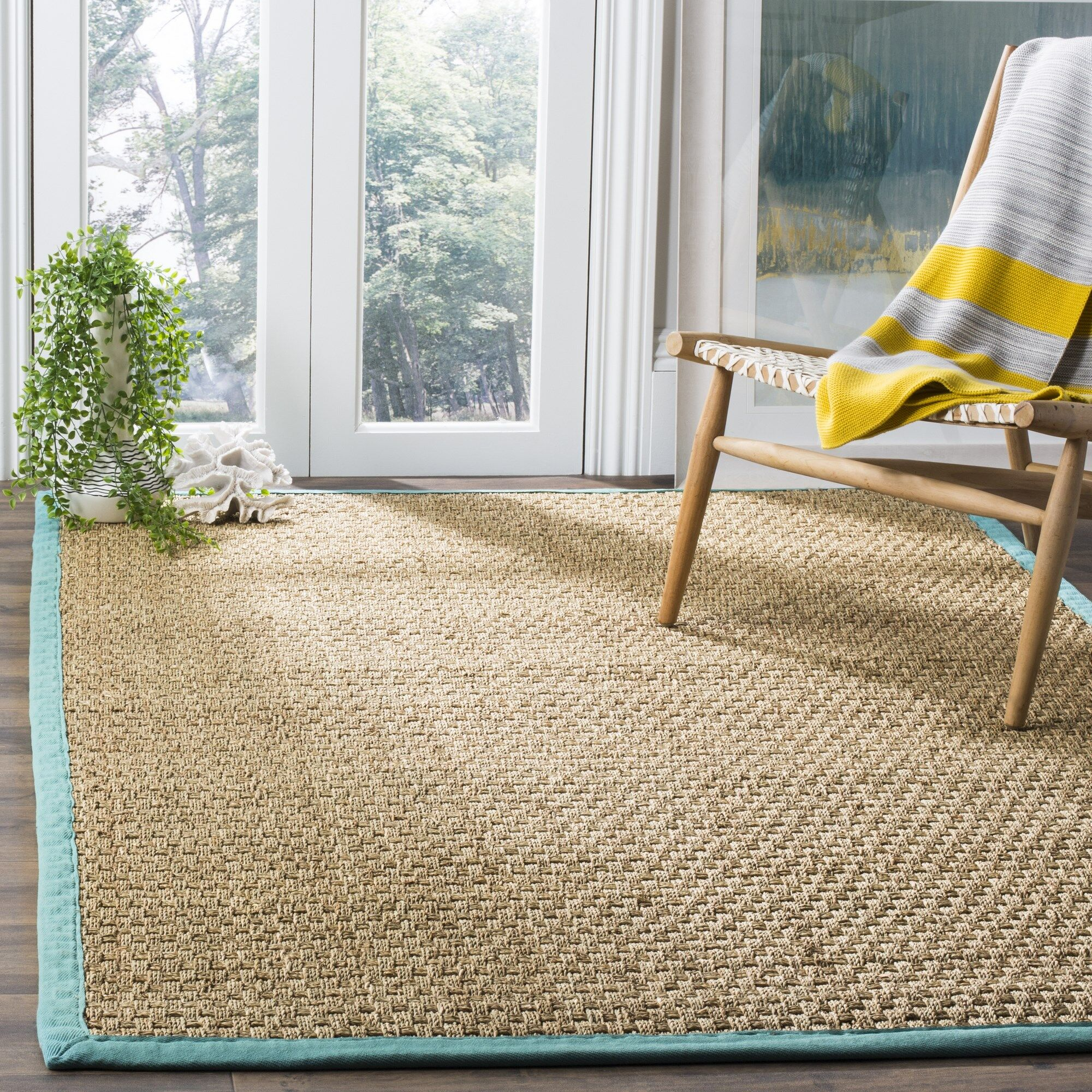 Richmond Natural/Teal Area Rug Rug Size: Rectangle 5' x 8'