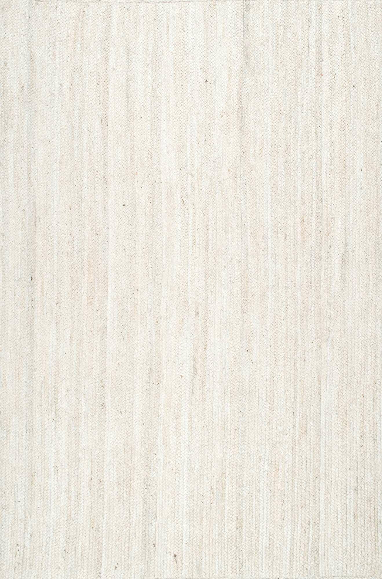 Burrillville Hand-Woven White Area Rug Rug Size: Rectangle 5' x 8'