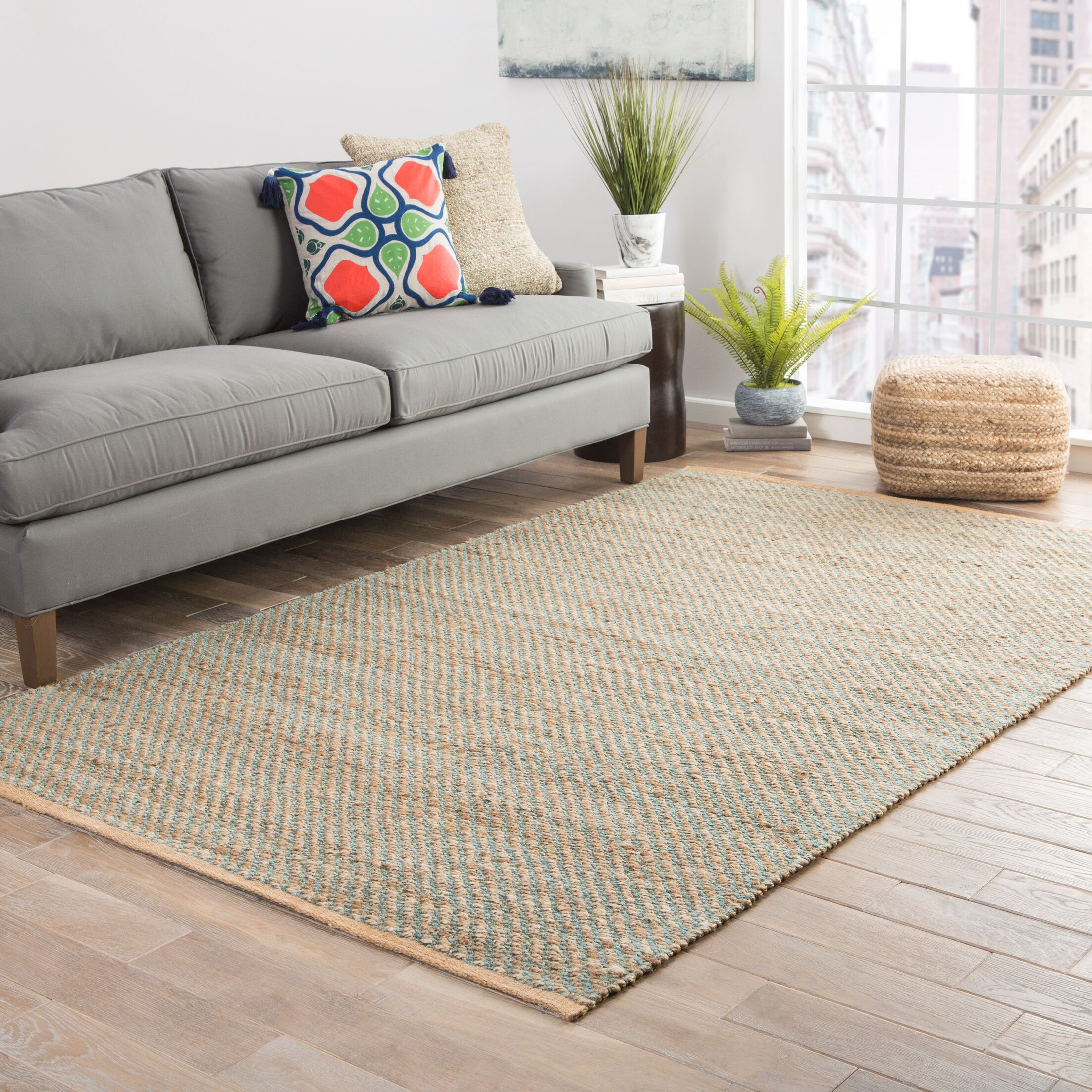 Ina Hand-Woven Beige Area Rug Rug Size: Rectangle 3'6