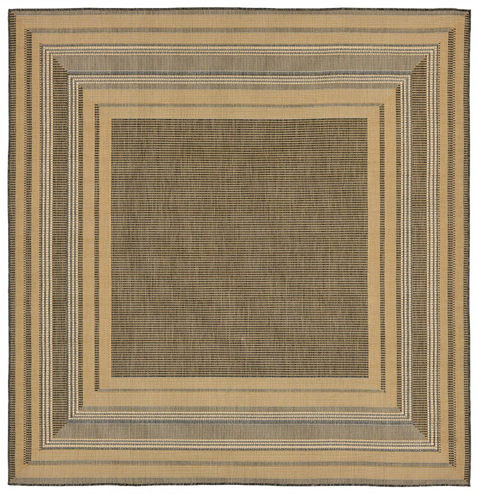 Clatterbuck Etched Gray Indoor/Outdoor Area Rug Rug Size: Square 7'10