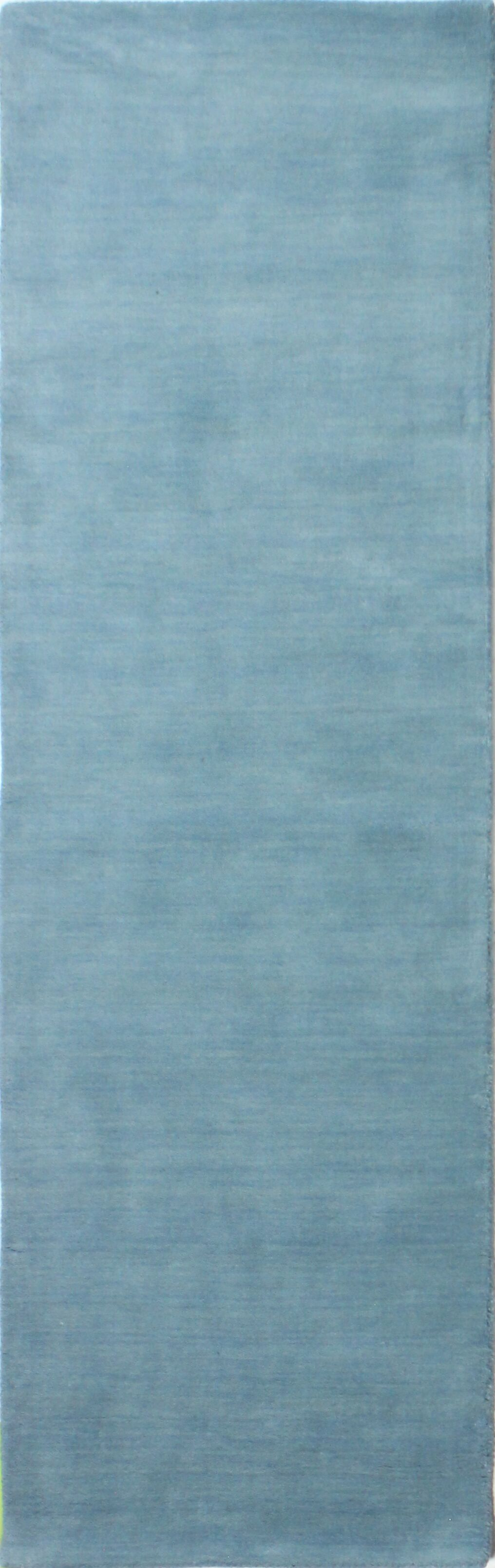 Huslia Hand-Woven Light Blue Area Rug Rug Size: Runner 2'6