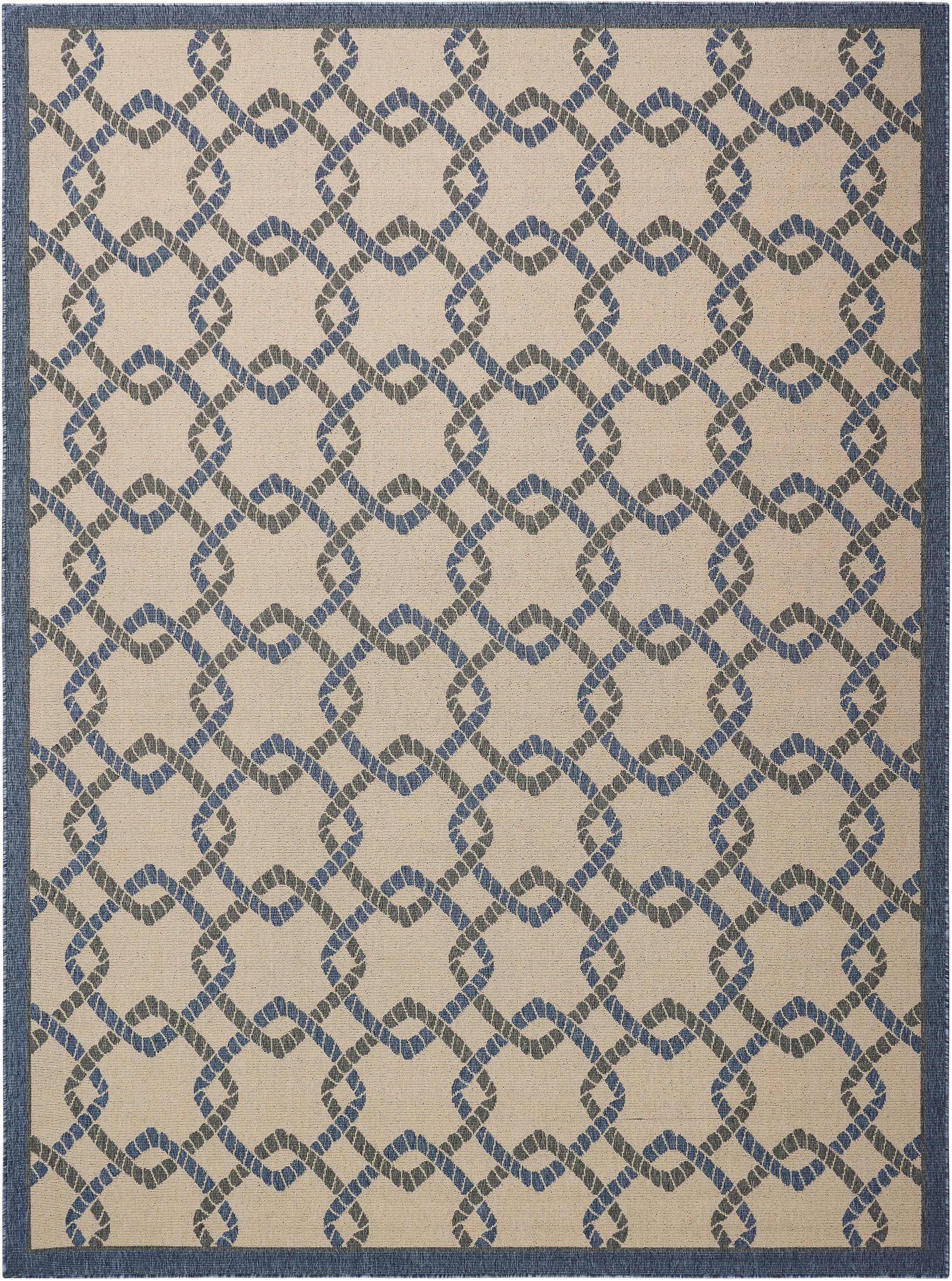 Kittrell Ivory/Blue/Gray Indoor/Outdoor Area Rug Rug Size: Rectangle 7'10