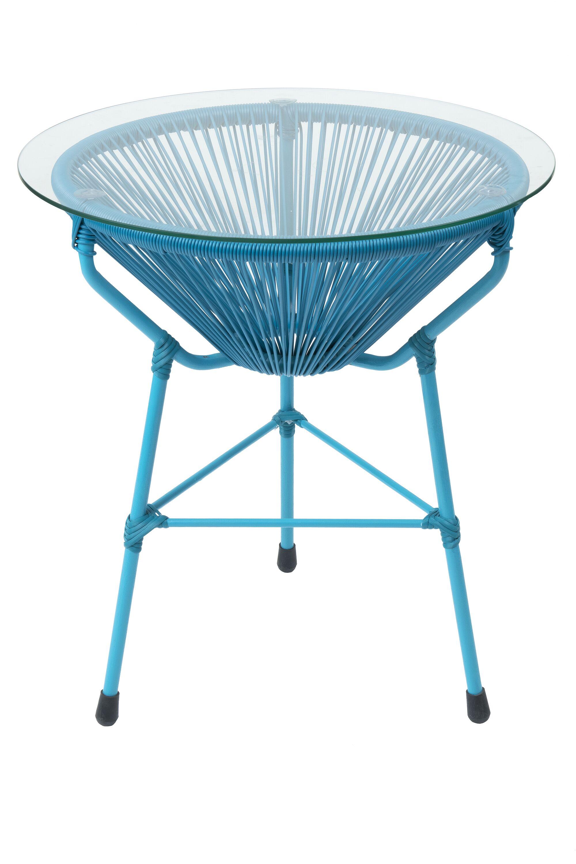 Carolyne Side Table Base Color: Blue