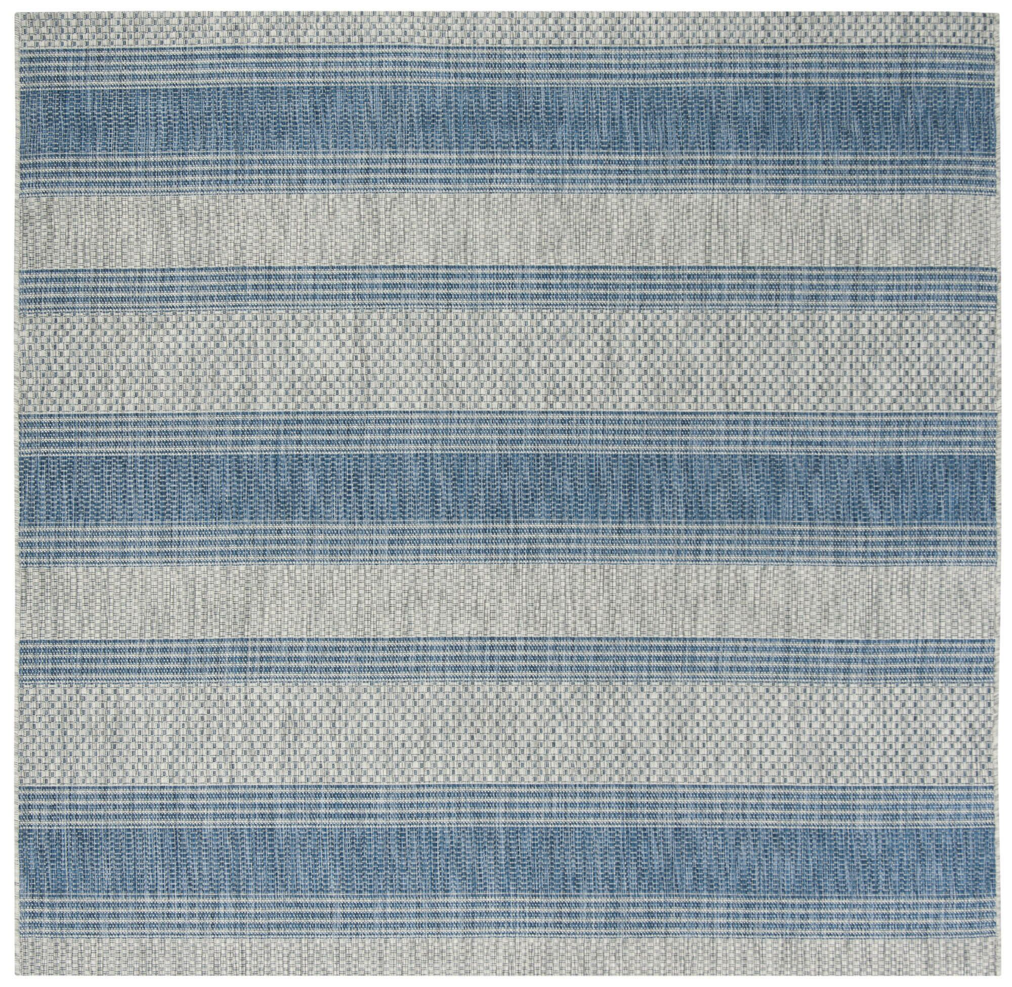 McCall Gray/Navy Indoor/Outdoor Area Rug Rug Size: Square 6'7