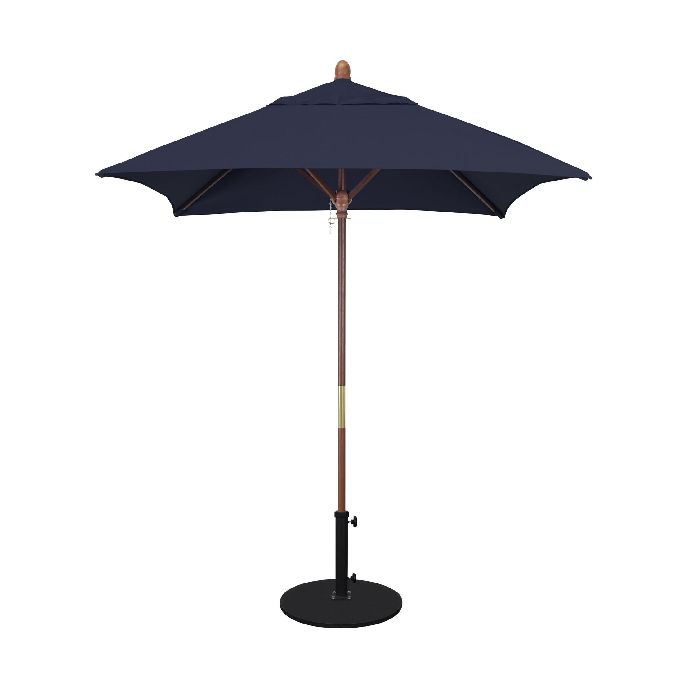 Burl 6' Square Market Umbrella Fabric: Sunbrella A Navy