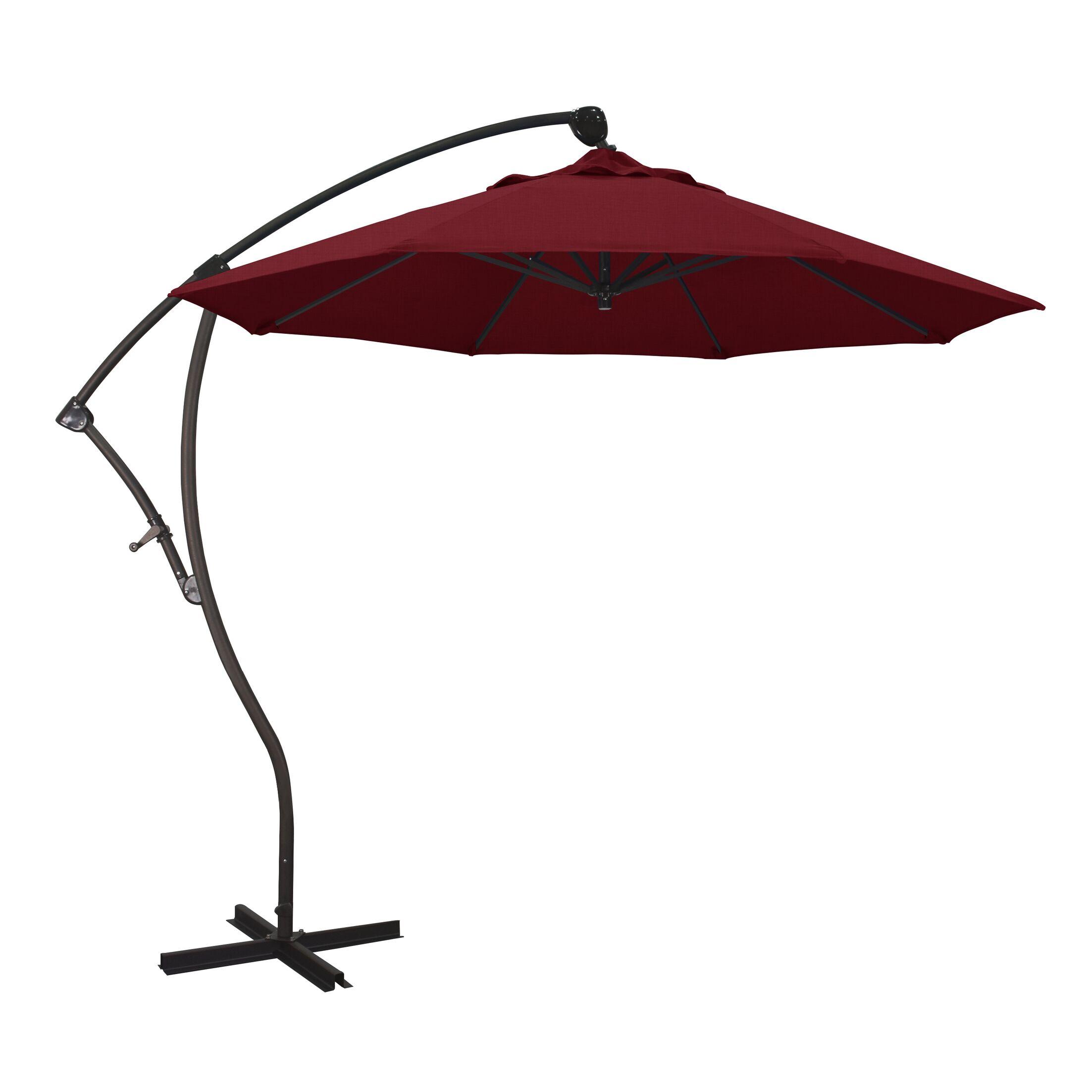 April 9' Cantilever Umbrella Fabric Color: Sunbrella A Spectrum Ruby