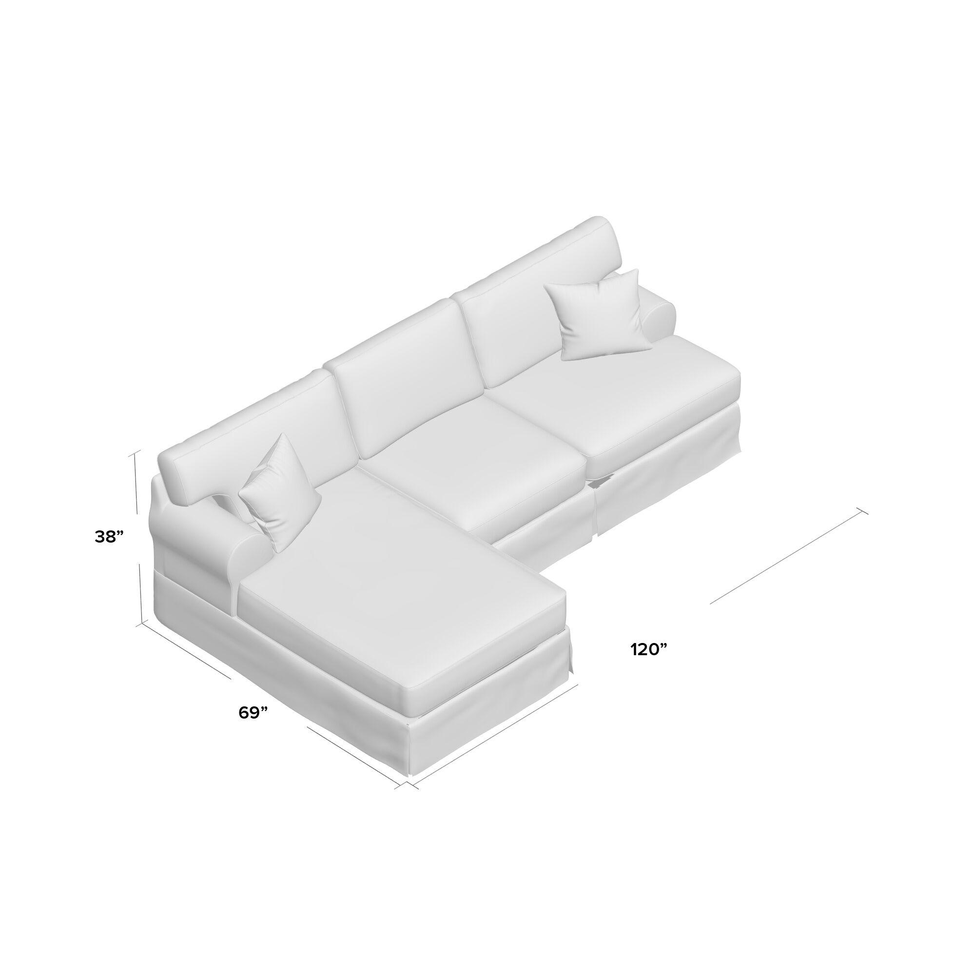Gravitt Sectional Upholstery: White, Orientation: Left Hand Facing
