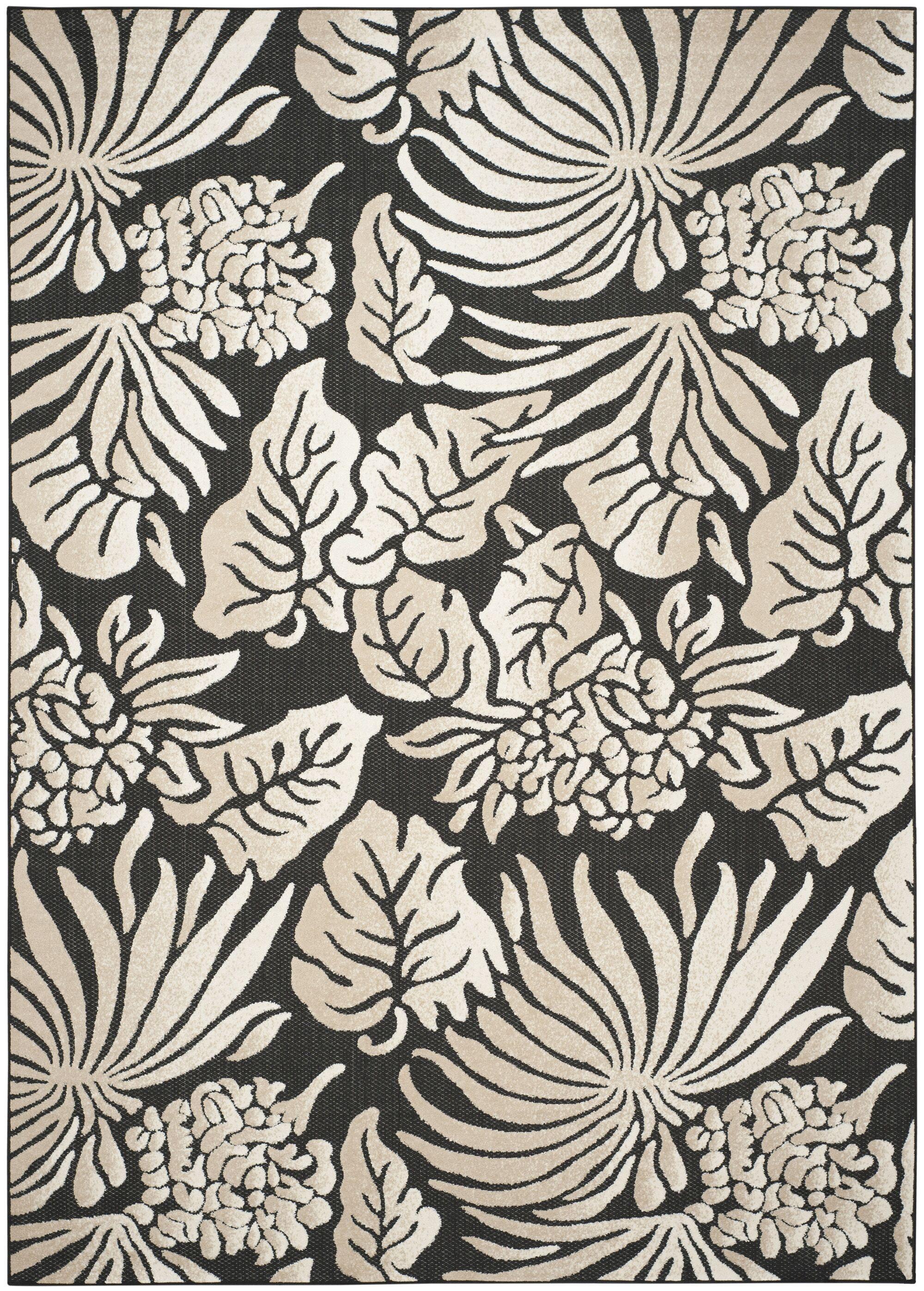 Patricia Black/Beige Indoor/Outdoor Area Rug Rug Size: Rectangle 8' x 11'2
