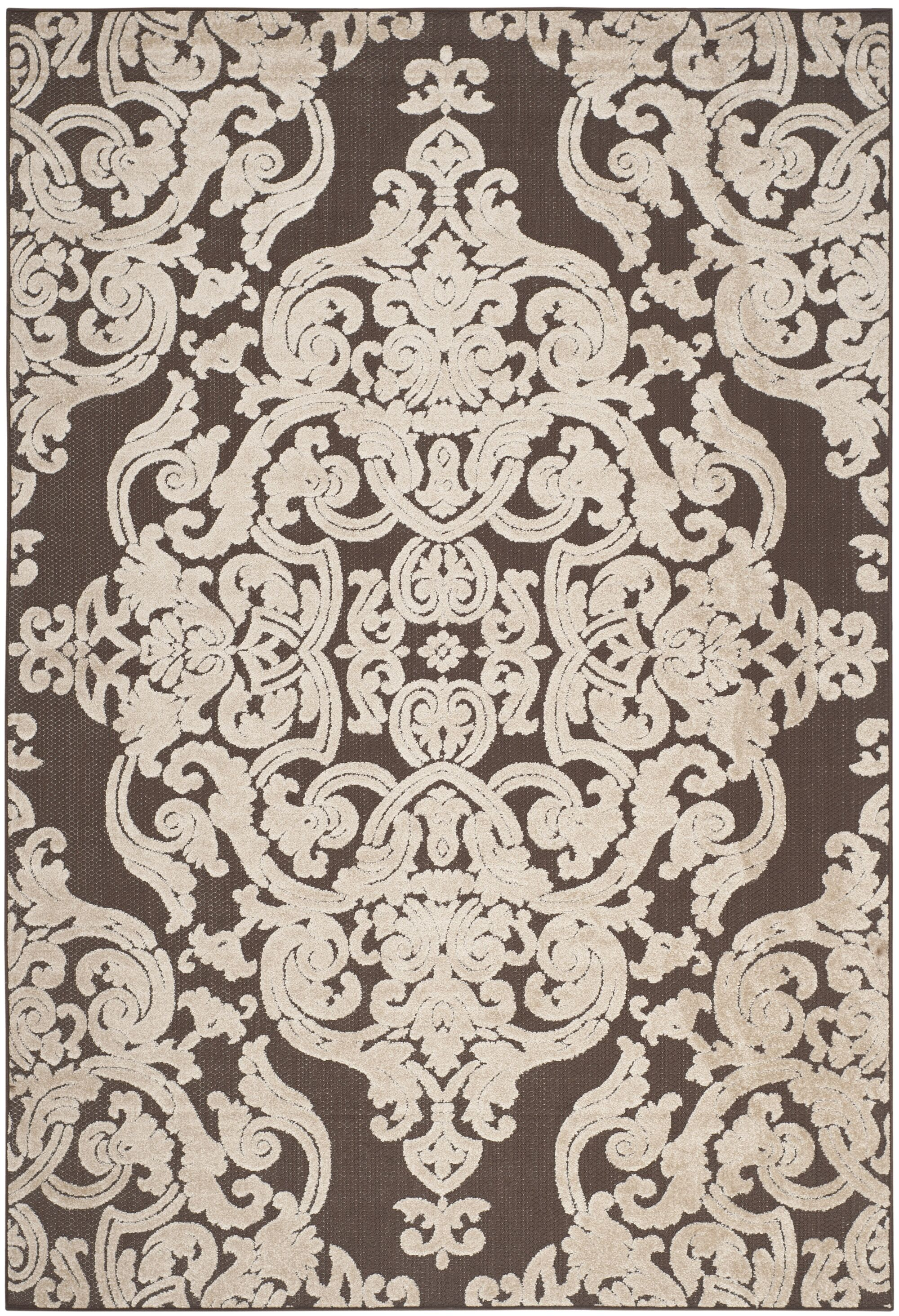 Patricia Brown Indoor / Outdoor Area Rug Rug Size: Rectangle 6'7