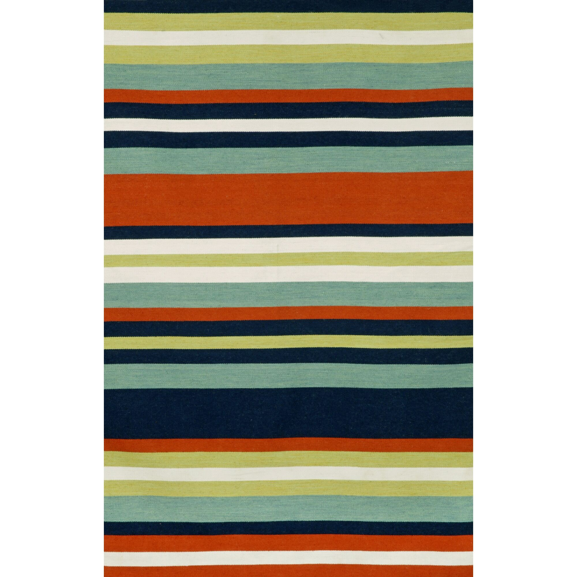 Ranier Hand-Woven Multi-Colored Indoor/Outdoor Area Rug Rug Size: Rectangle 7'6