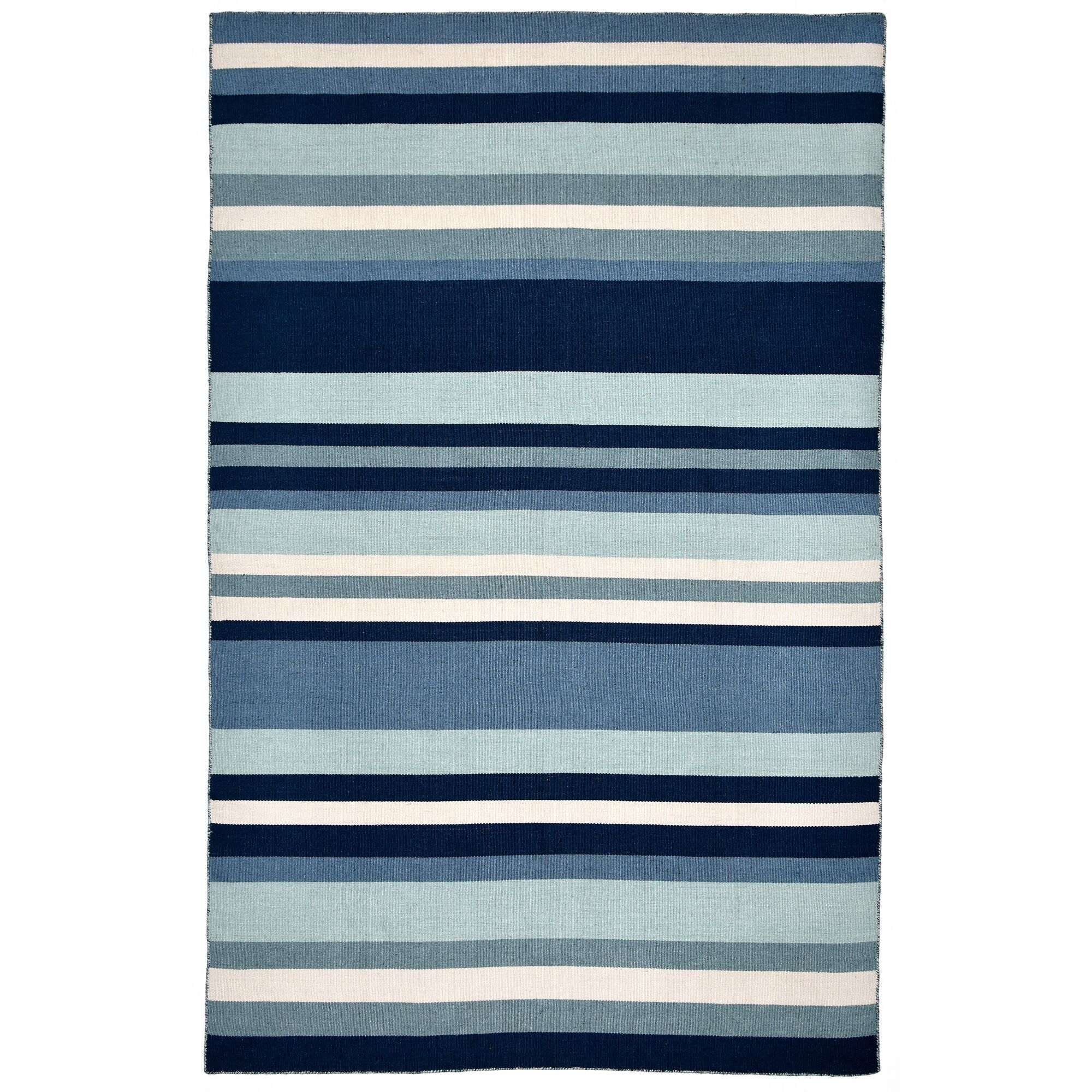 Ranier Hand-Woven Blue Indoor/Outdoor Area Rug Rug Size: Rectangle 3'6