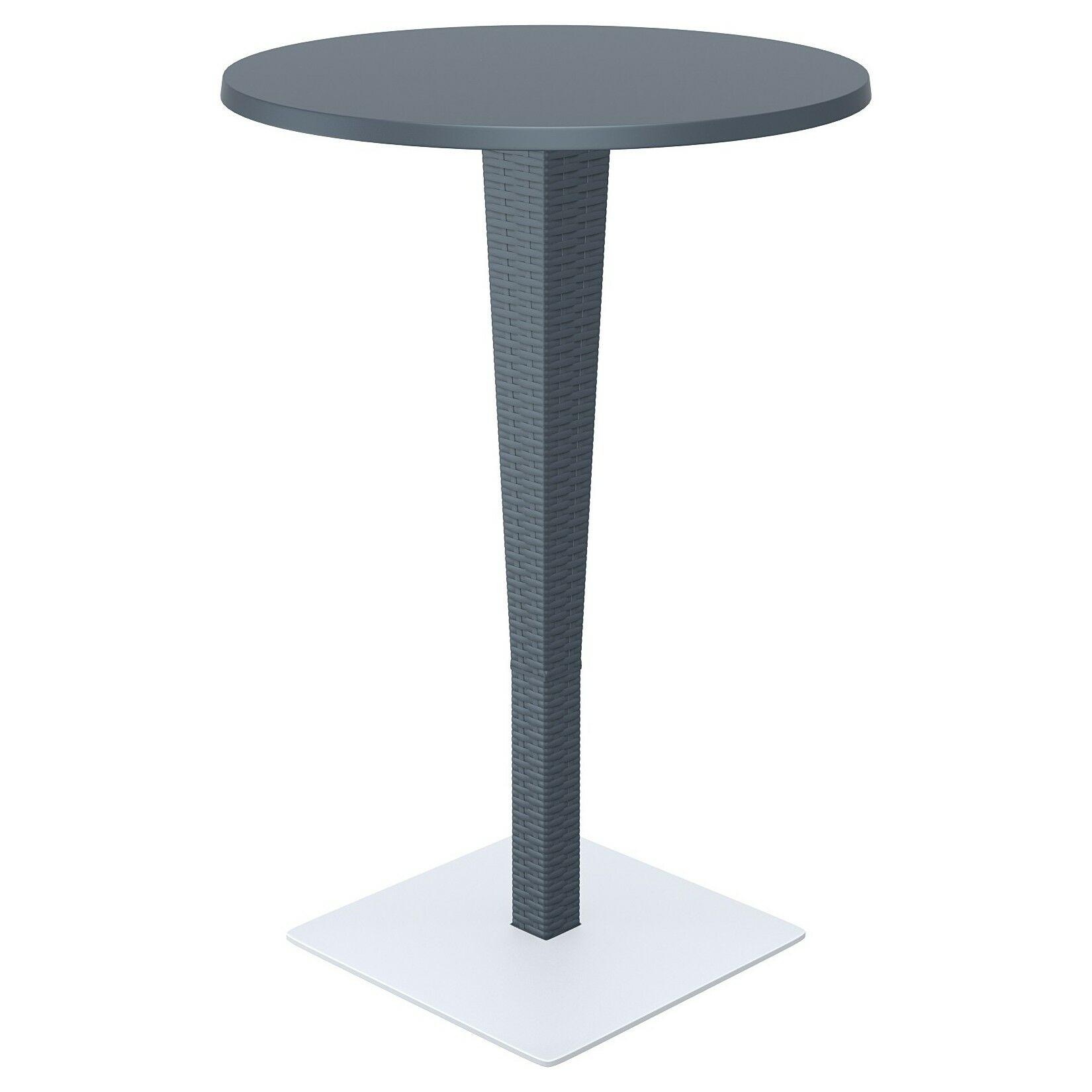 Jaelyn Traditional Bar Table Color: Dark Gray