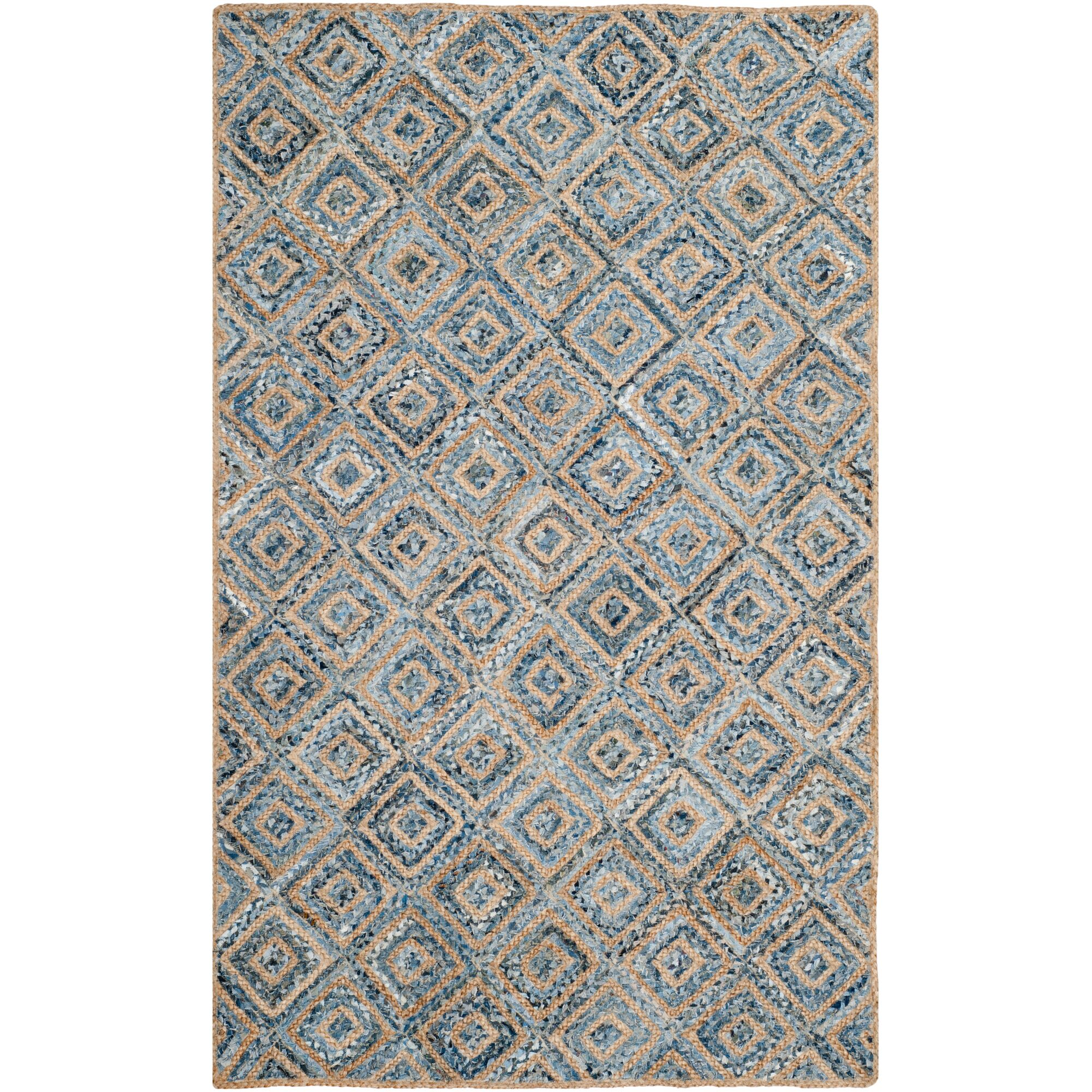 Gilchrist Traditional Hand-Woven Natural/Blue Area Rug Rug Size: Rectangle 5' x 8'