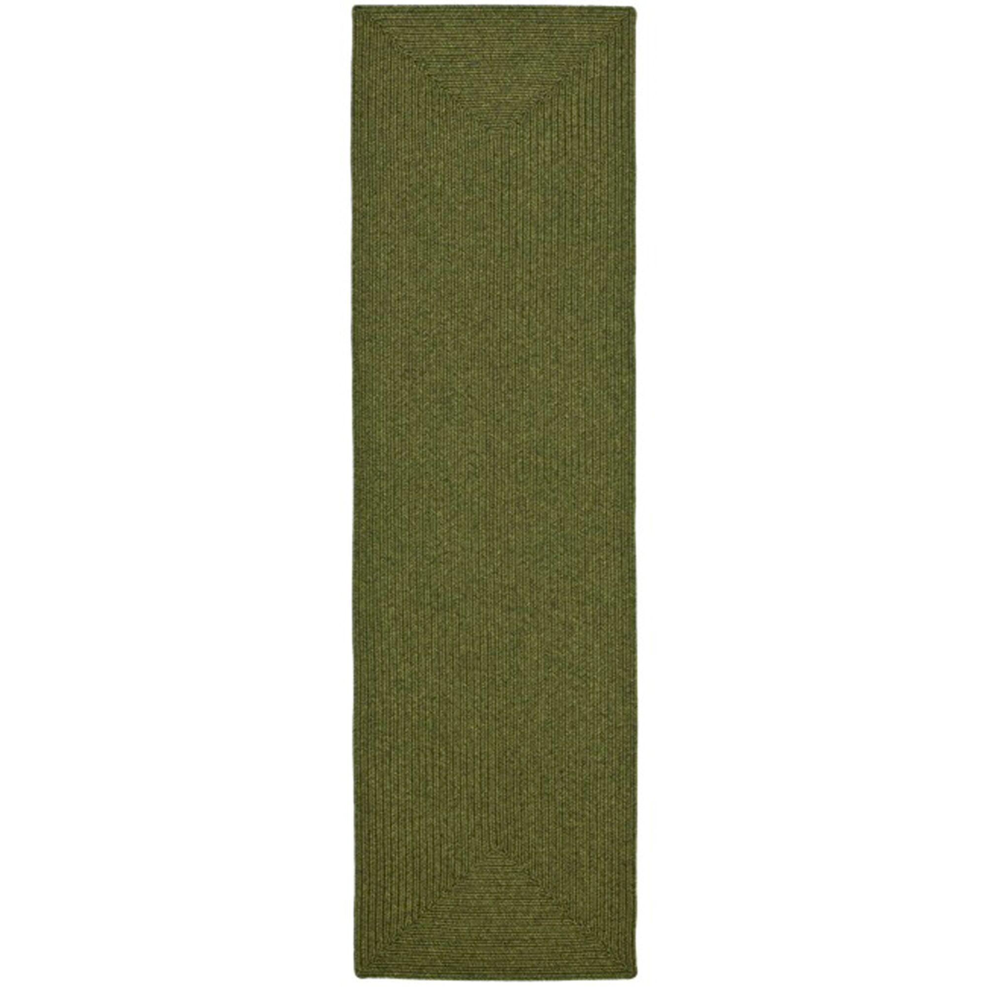 Lissie Hand-Woven Moss Green Area Rug Rug Size: Runner 2'3