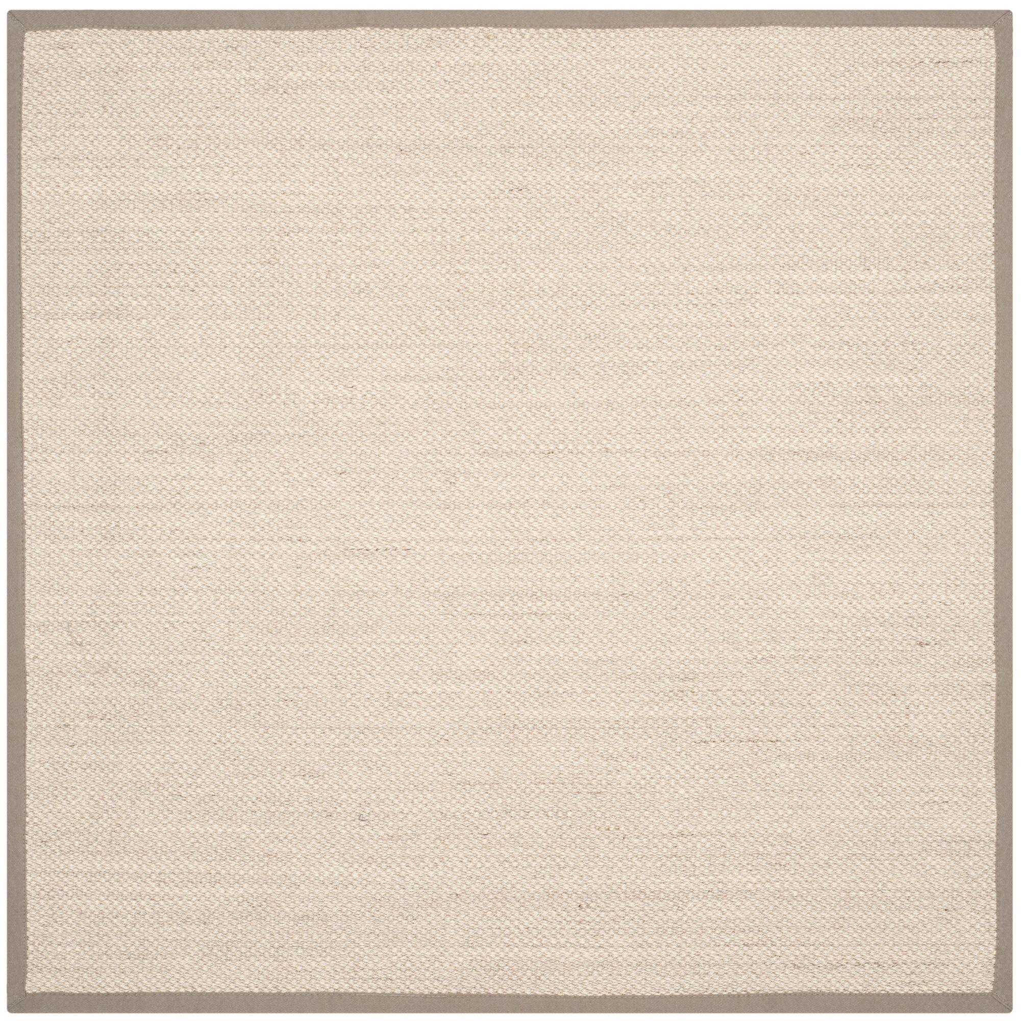 Monadnock Marble/Khaki Area Rug Rug Size: Square 6'